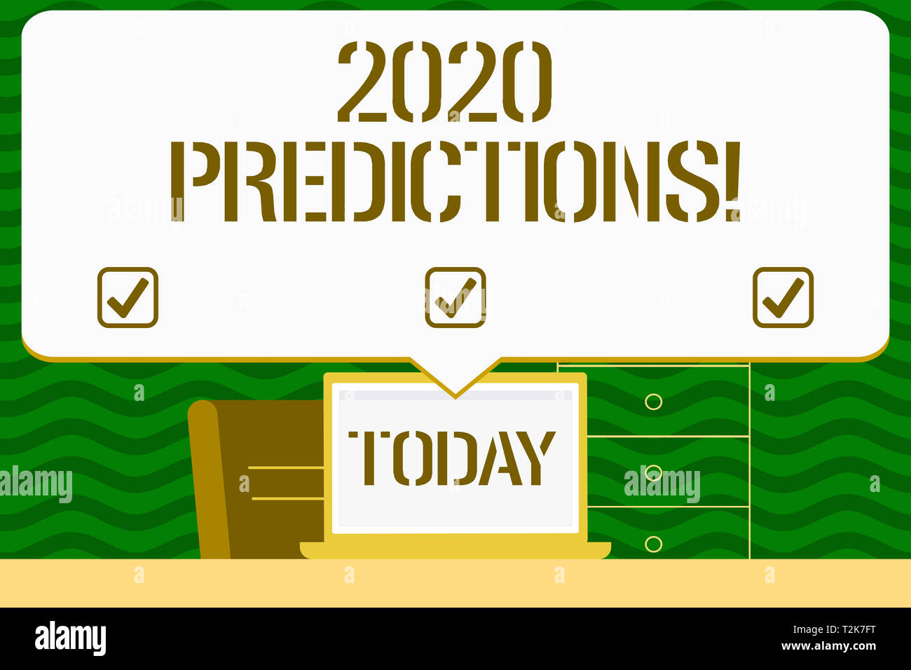 Writing note showing 2020 Predictions  Business concept for