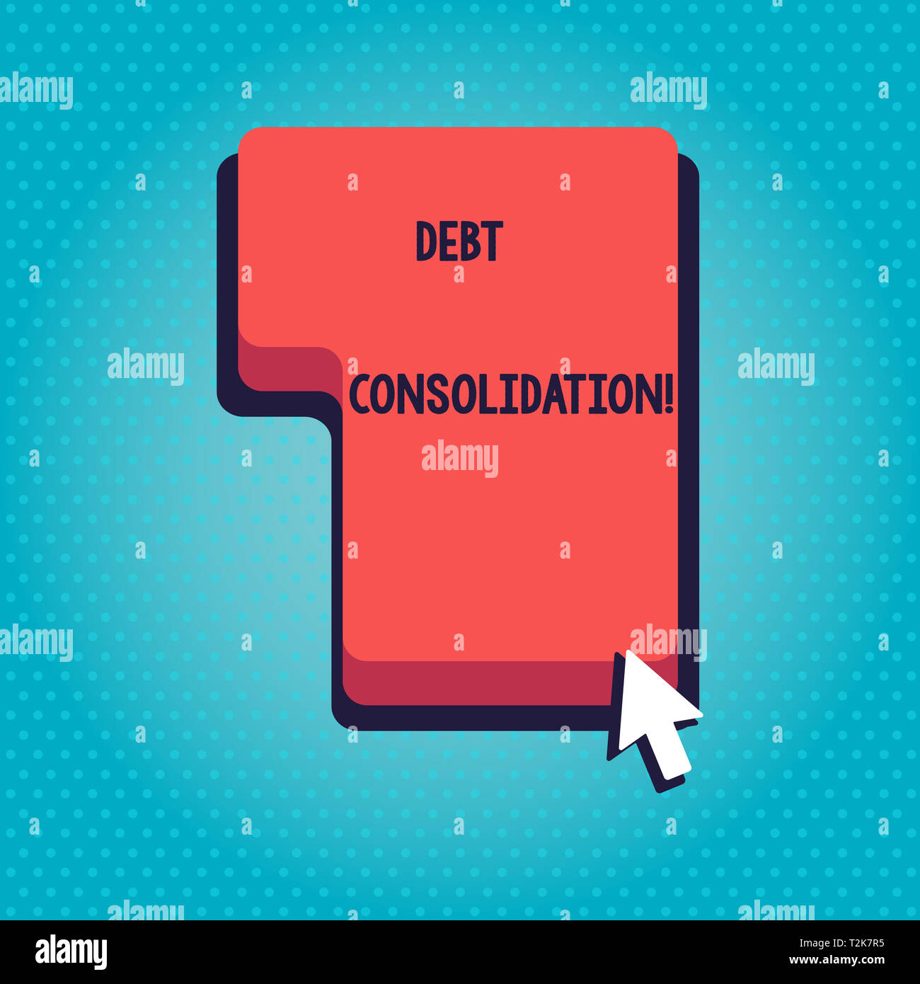 One Click Loan >> Word Writing Text Debt Consolidation Business Photo Showcasing