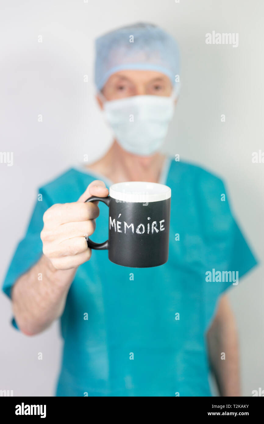 Burn-out chirurgien - Stock Image