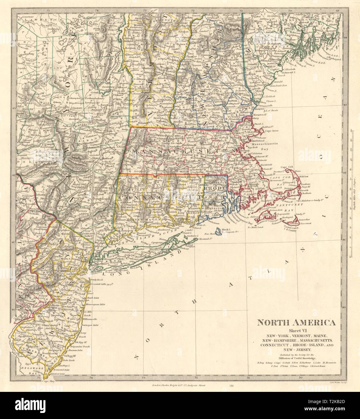 Map Of New York New Jersey And Connecticut.Usa New York Maine Massachusetts Connecticut New Jersey Nh Ri Vt