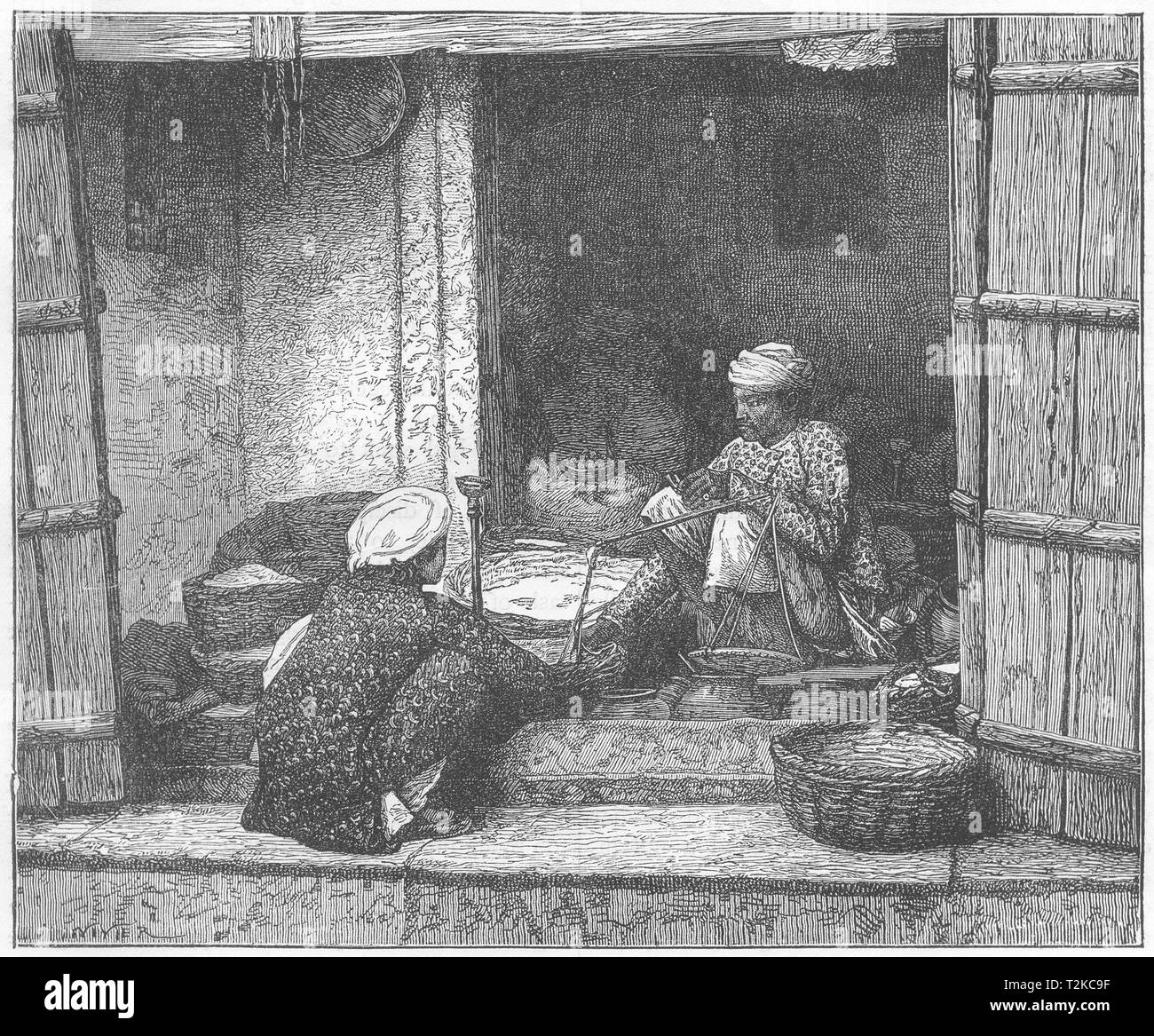 INDIA. Rice and Corn Merchants of Patna c1880 old antique print picture - Stock Image