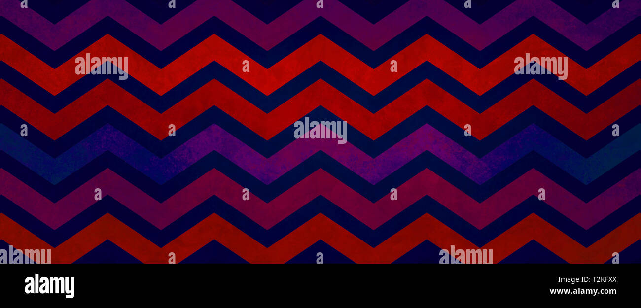 Old Vintage Or Retro Chevron Striped Background Design With Distressed Grunge Texture And Bold Red And Purple Blue Color Design Groovy Hippie Website Stock Photo Alamy