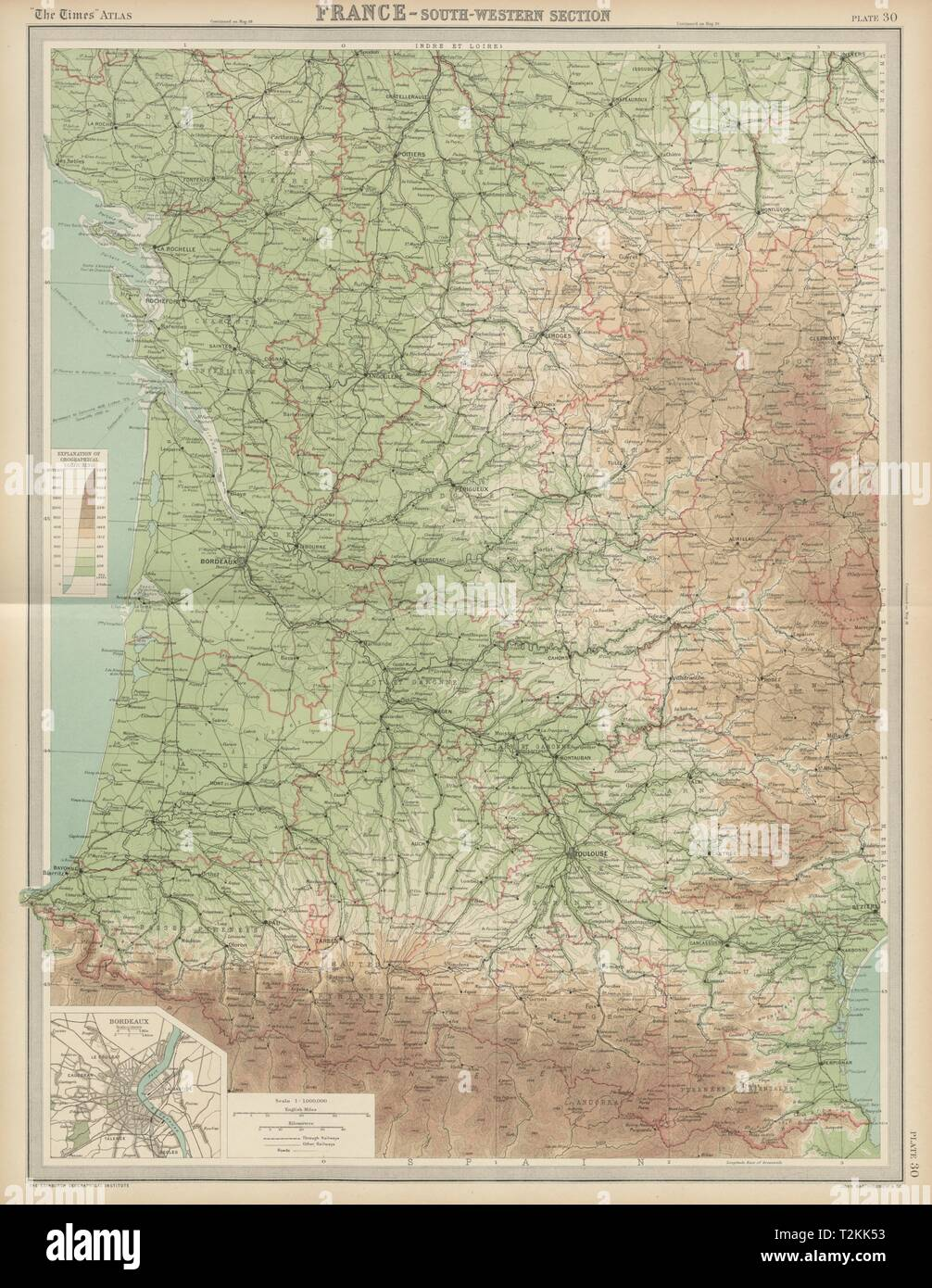 Map Of West France.South West France Aquitaine Pyrenees Charente Limousin The Times