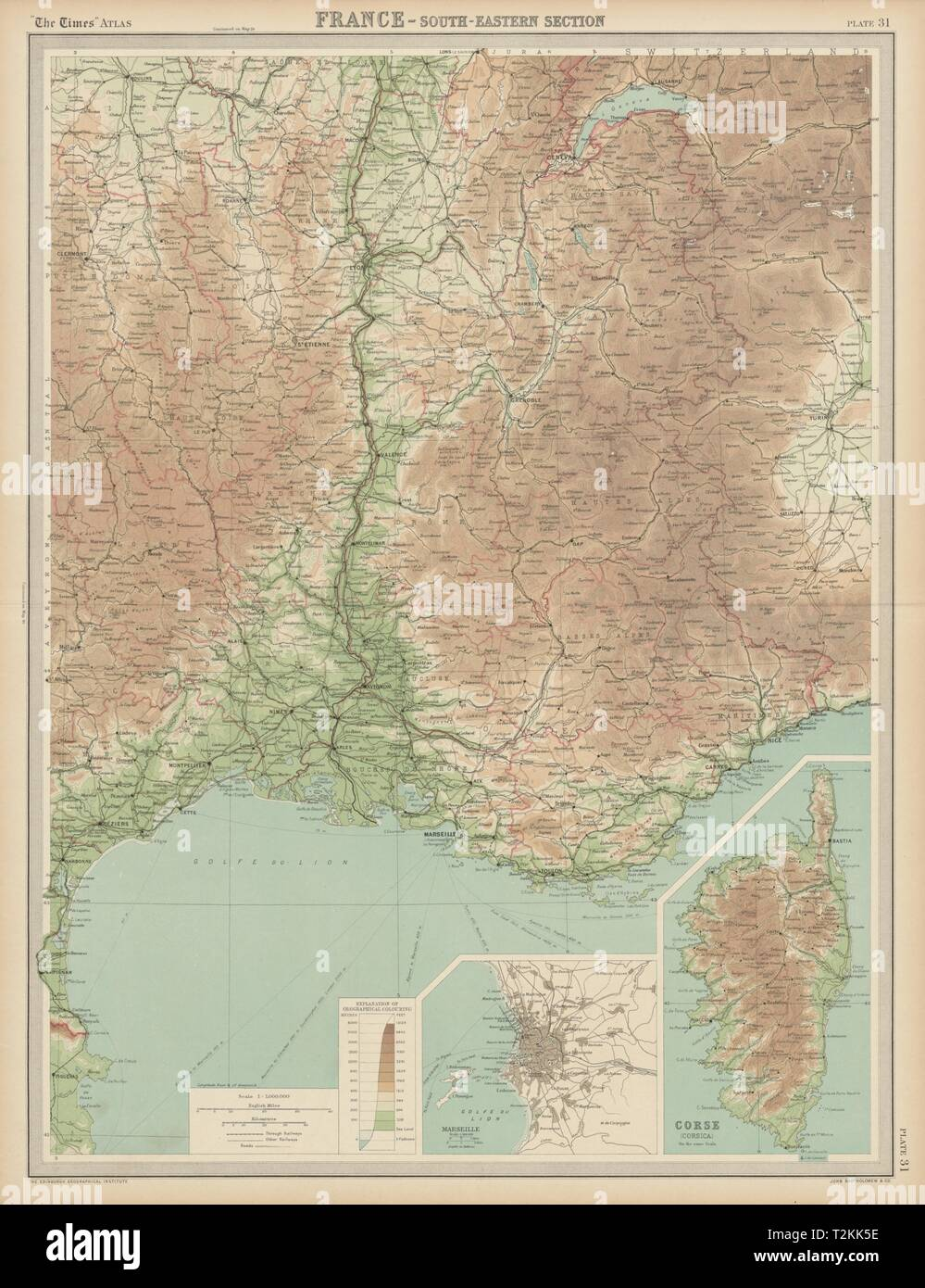 Map Of South East France.South East France Provence Rhone Alpes Languedoc Marseille The