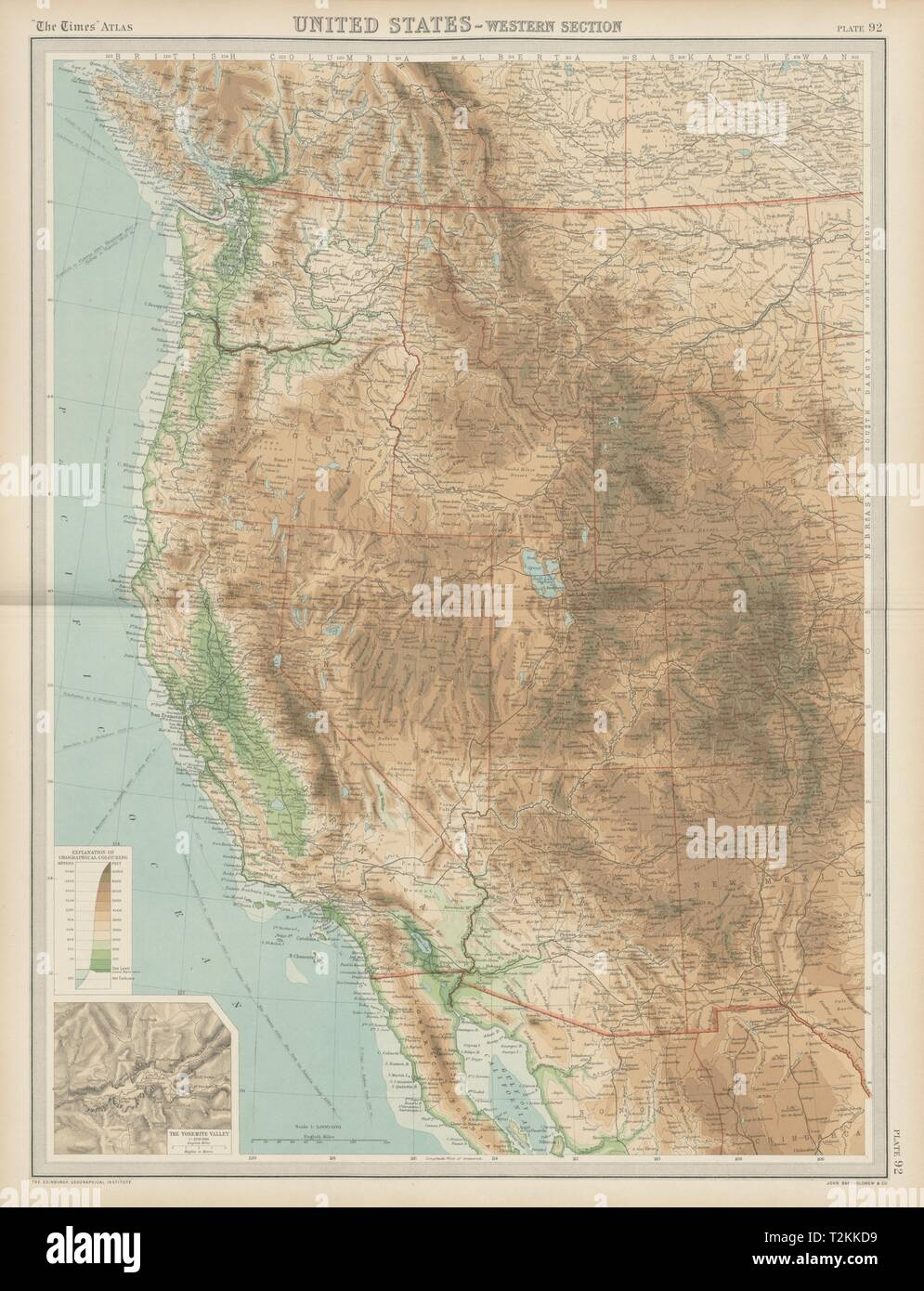 Western United States. Rocky Mountains. California Pacific ...
