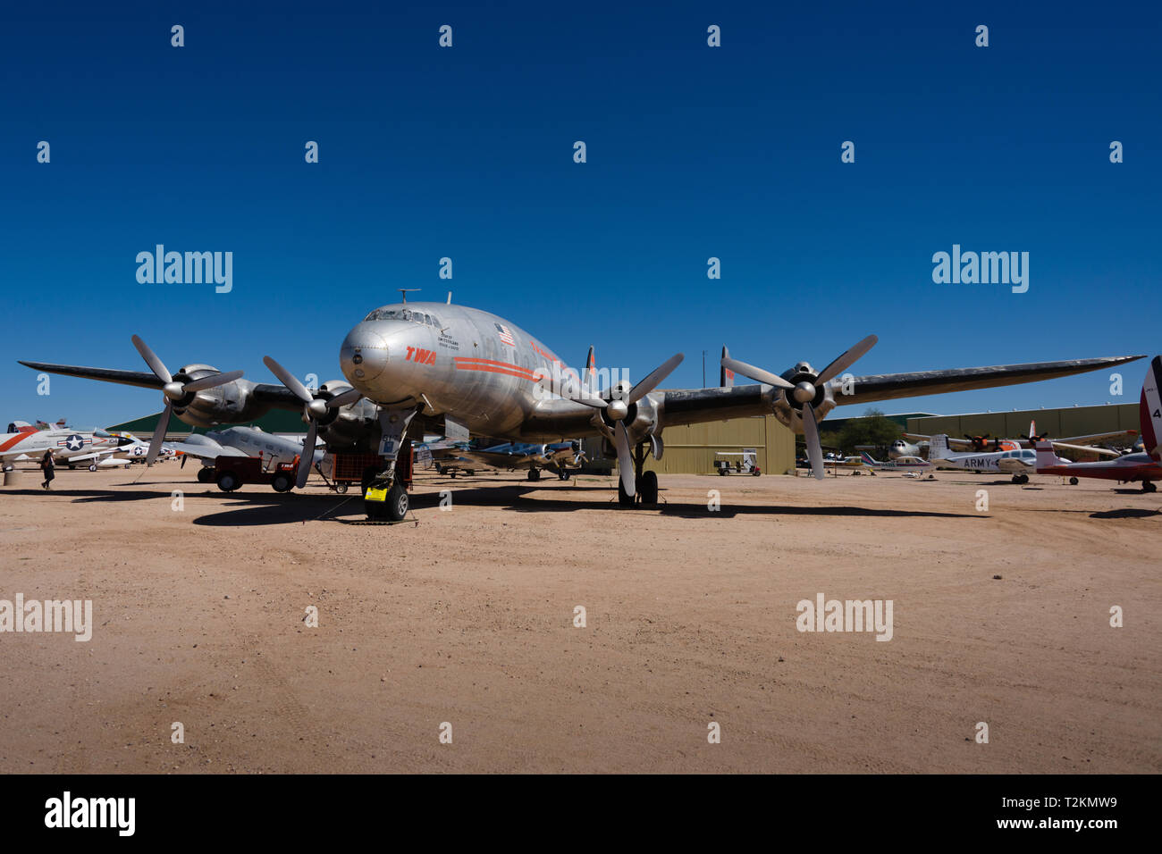 Lockheed L-049 Constellation - Stock Image