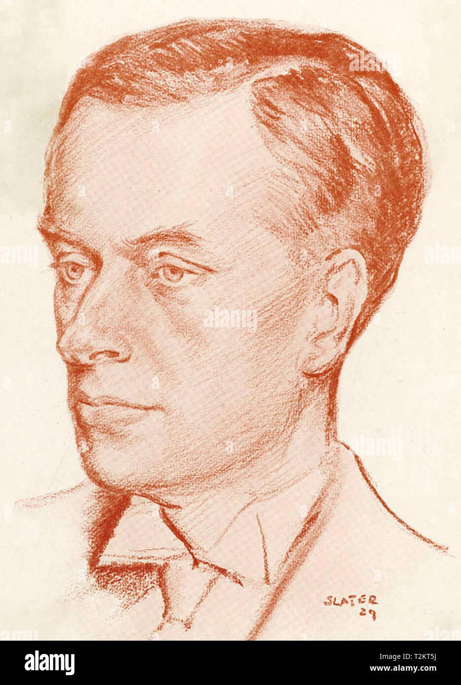 EDMUND VALPY KNOX (1881-1971) English poet and satirist in 1929 - Stock Image