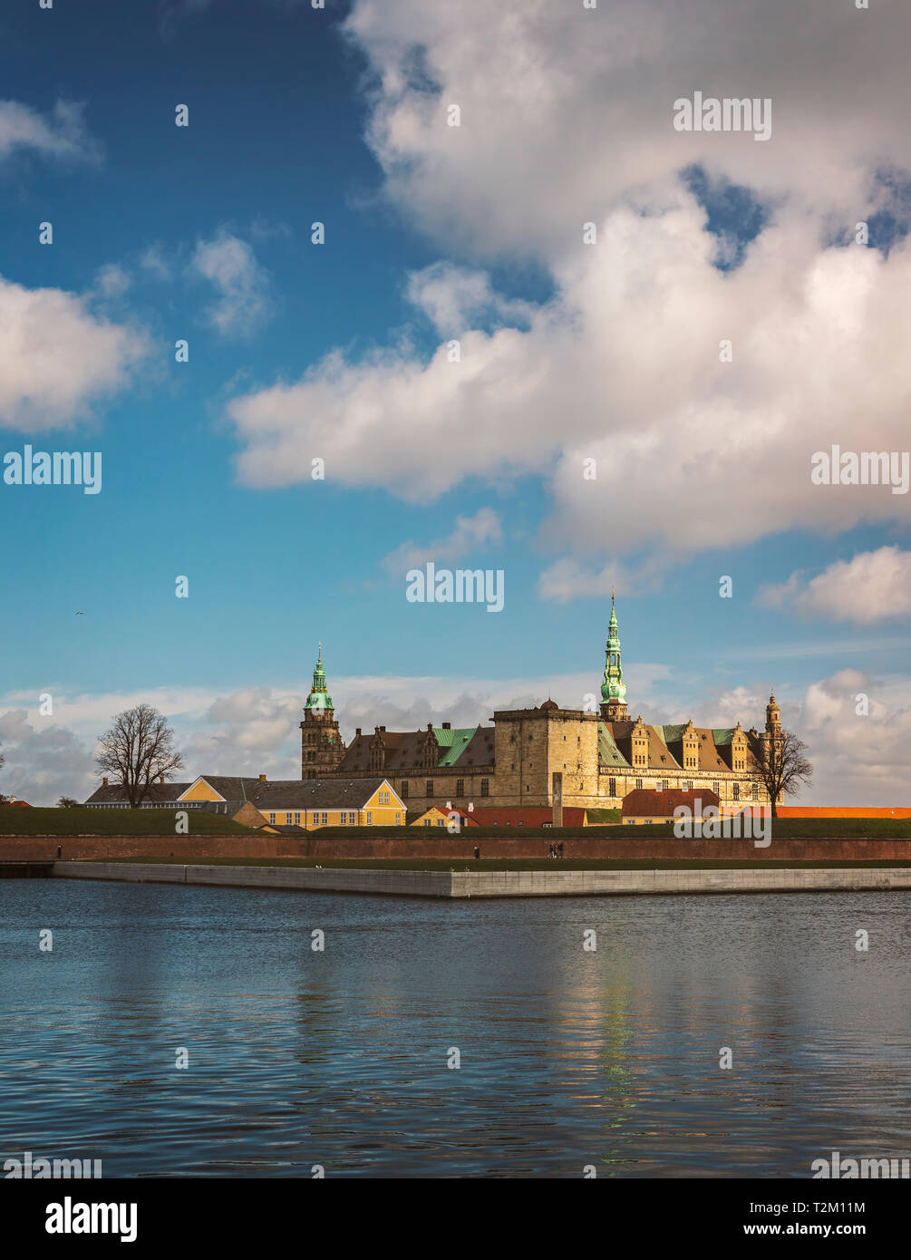 Kronborg castle in the city of Helsingor, Denmark. - Stock Image