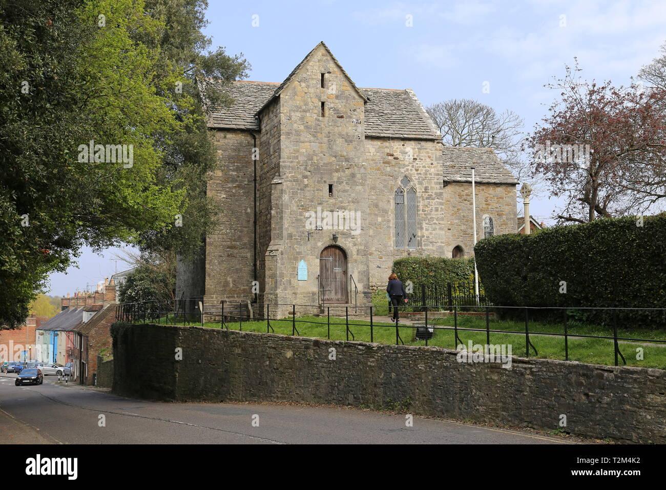 St Martin's (aka St Martin's-on-the-Walls) Anglo-Saxon church, Wareham, Isle of Purbeck, Dorset, England, Great Britain, United Kingdom, UK, Europe - Stock Image