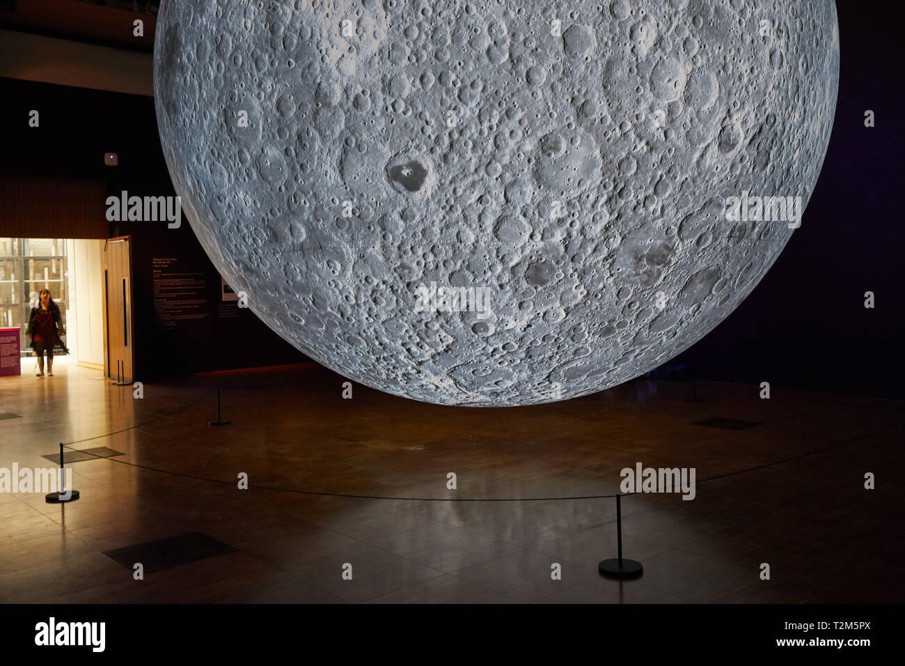 Museum of the Moon. Touring artwork by UK artist Luke Jerram - Stock Image
