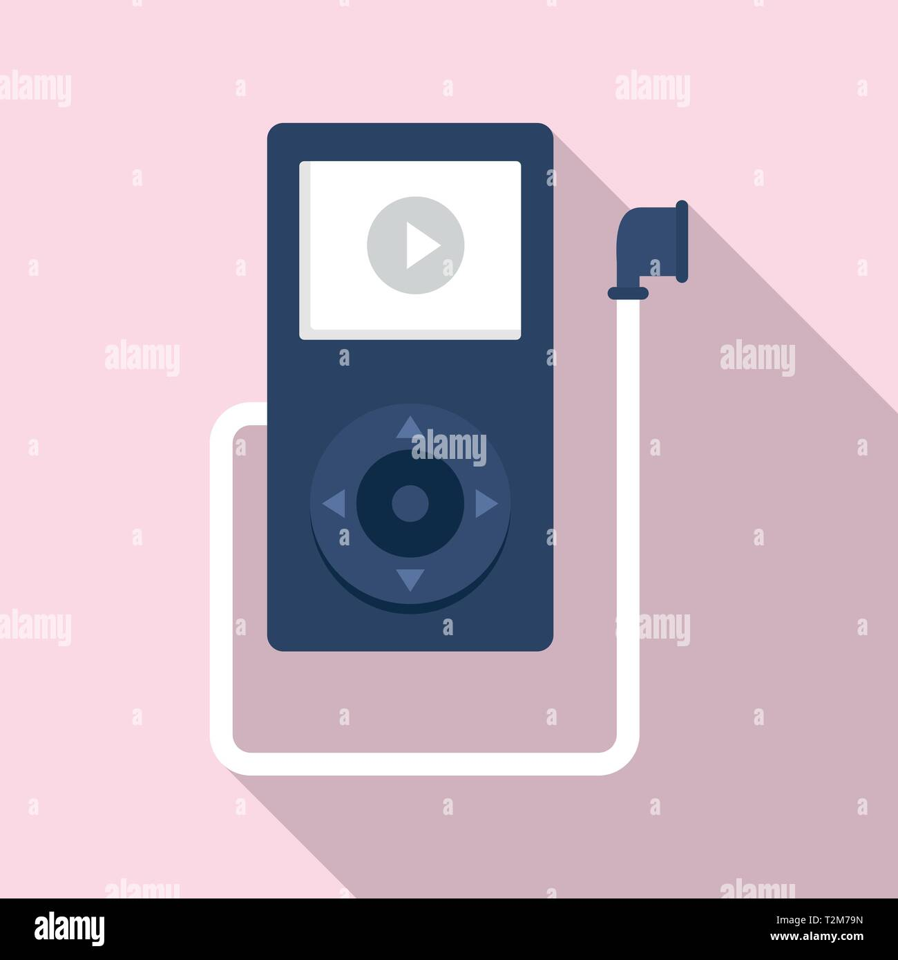 Music player learning icon  Flat illustration of music player
