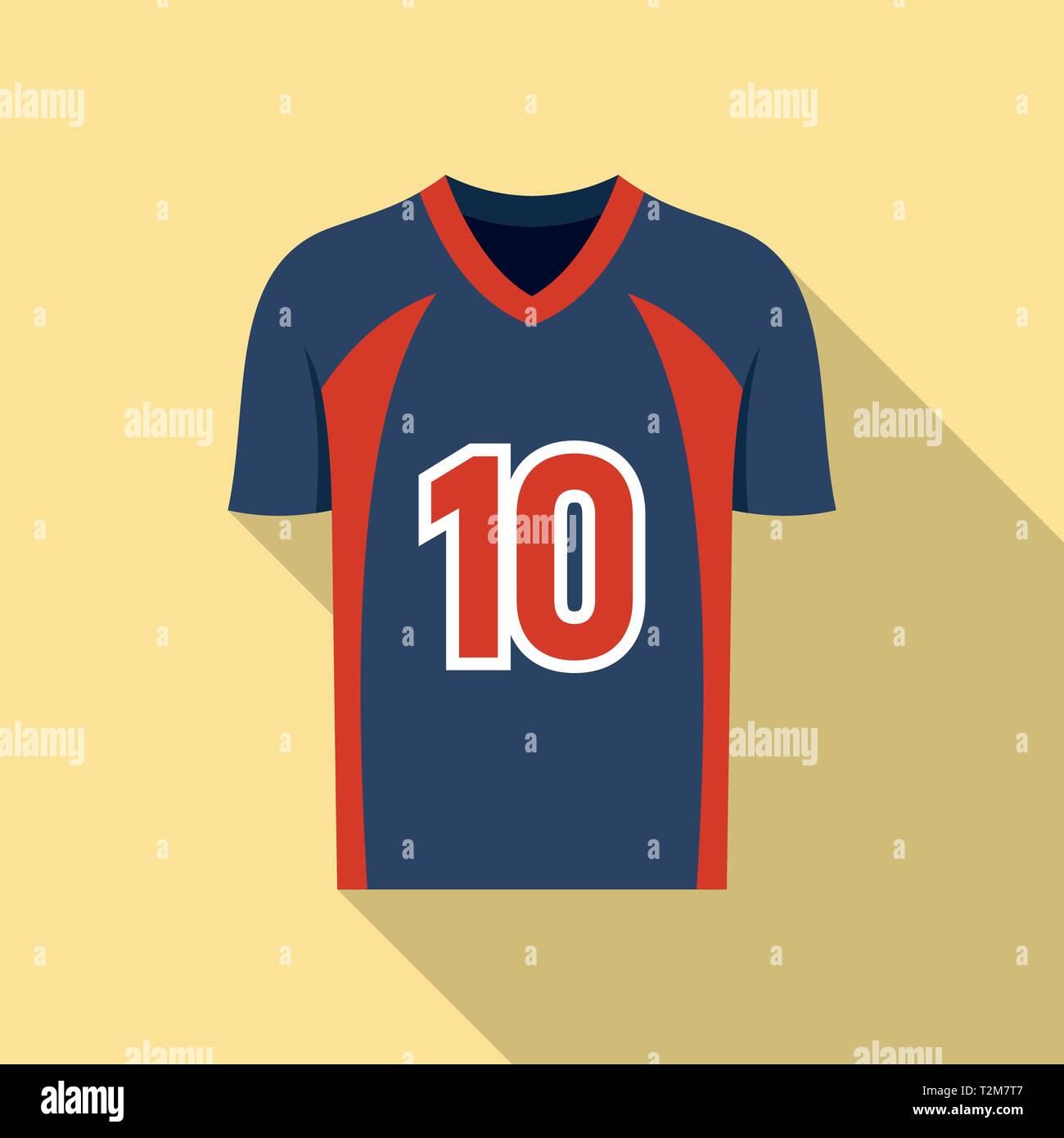 31e415436 American football jersey icon. Flat illustration of american football  jersey vector icon for web design