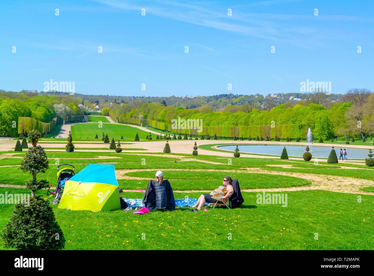 parc de sceaux, haut de seine, france - Stock Image