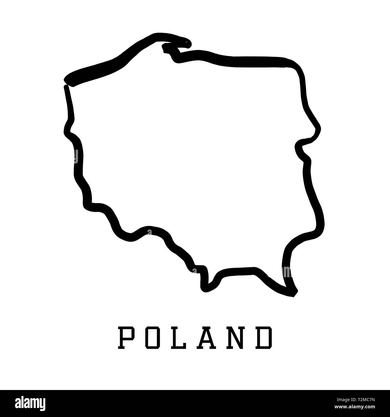 Poland Blank Map High Resolution Stock Photography And Images Alamy