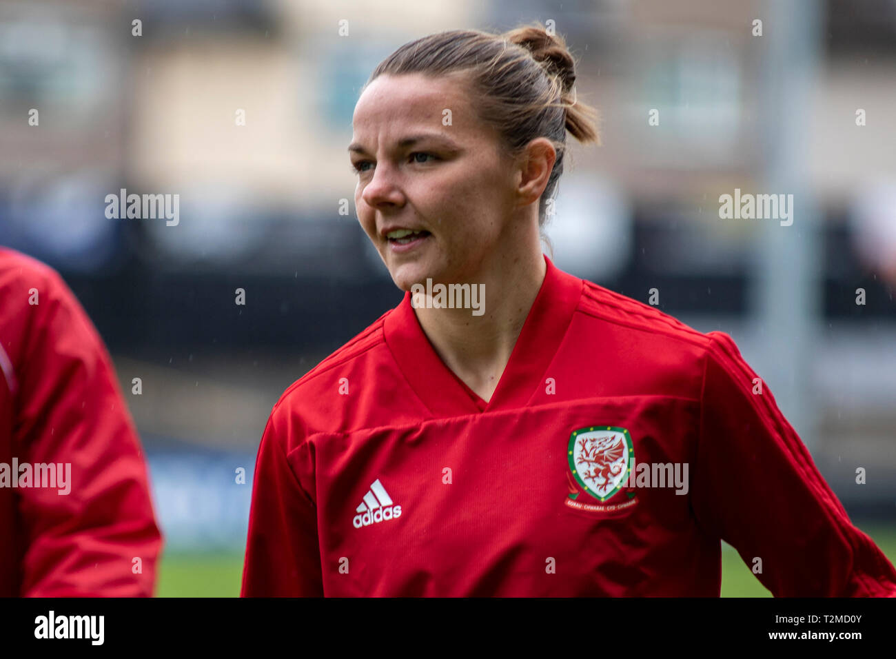 Loren Dykes of Wales trains at Rodney Parade ahead of the Wales v Czech Republic International Friendly. Stock Photo