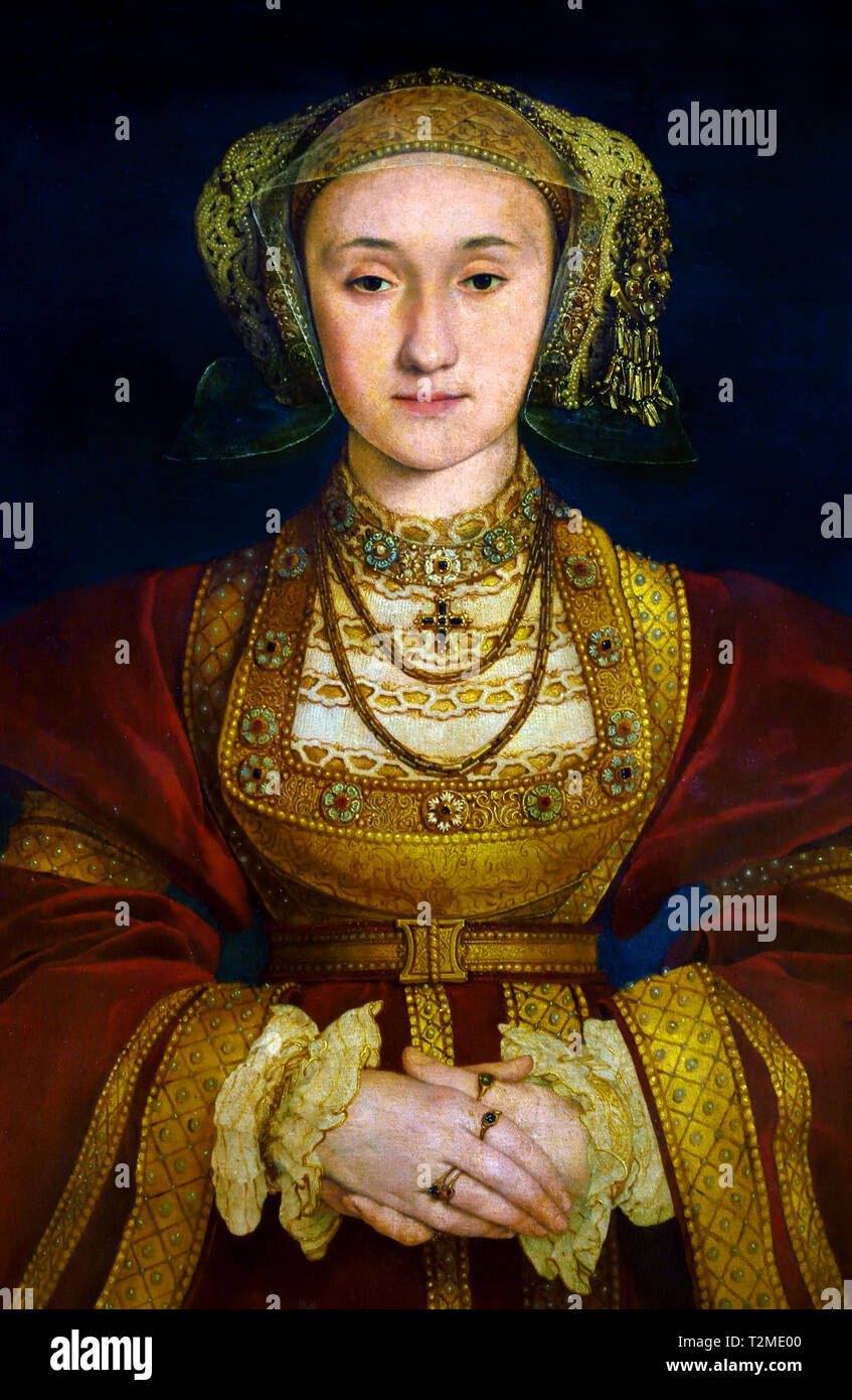 Anne of Cleves (1515–1557) Fourth wife of Henry VIII, King of England by  Hans Holbein the Younger, 1497 - 1543, German, Germany - Stock Image