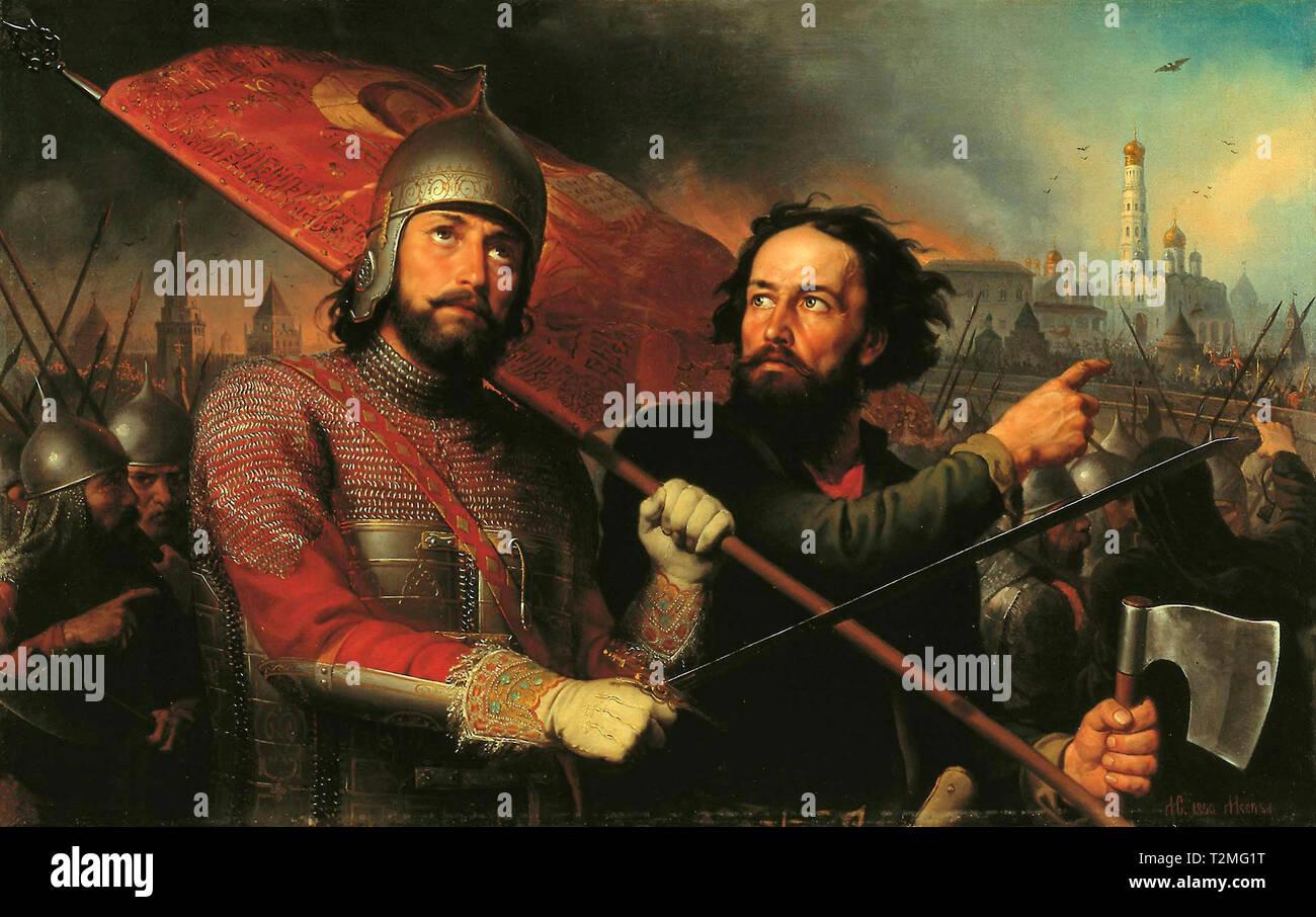 Minin and Pozharskiy - Mikhail Scotti, 1850 - Stock Image