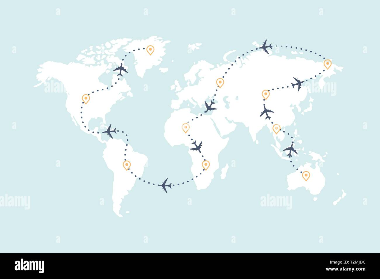 Airplane route line and travel routes. Aviation track path ... on travel line map, travel area map, travel time map, travel blog map,