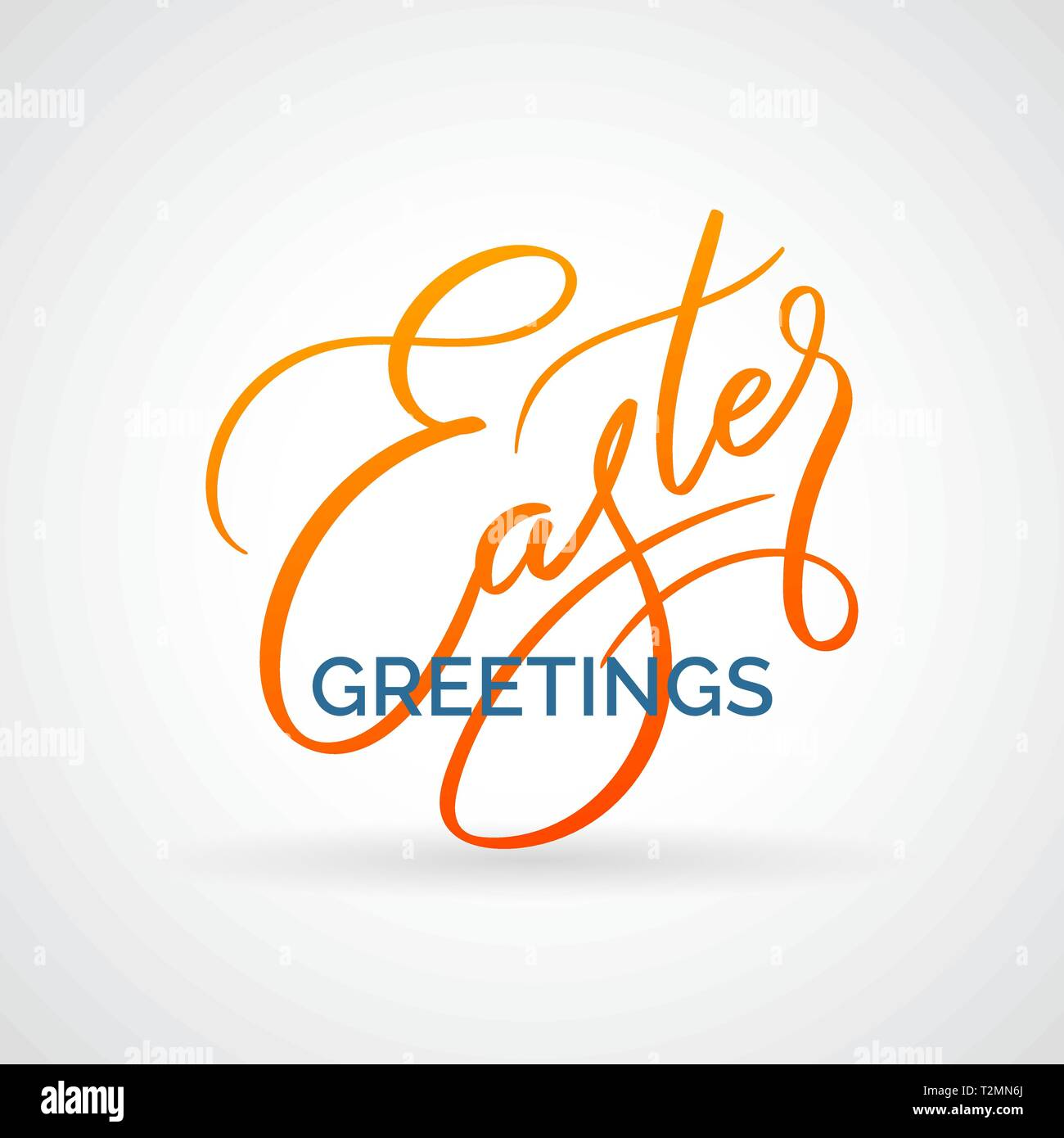 Easter greetings vector typography, calligraphy, lettering, hand