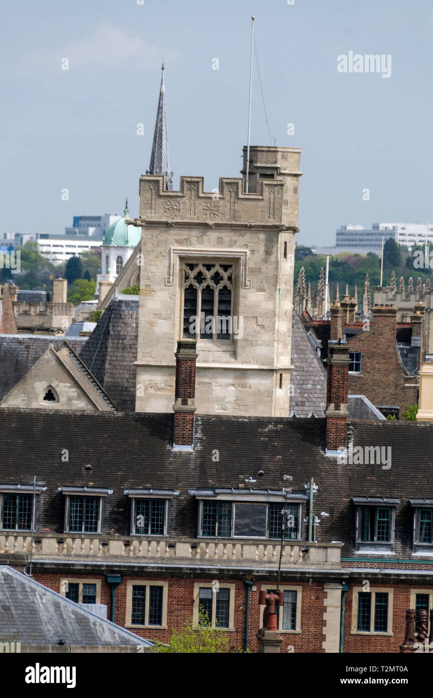 Skyline Of Oxford City And The Carfax Tower From The Saxon Built St