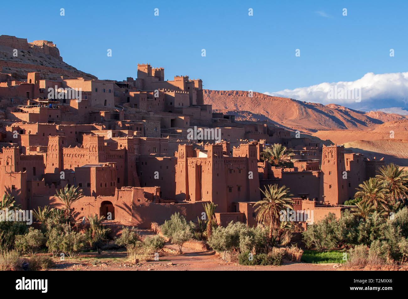 Old Kasbah Aid Ben Haddou in the desert of Morocco - Stock Image