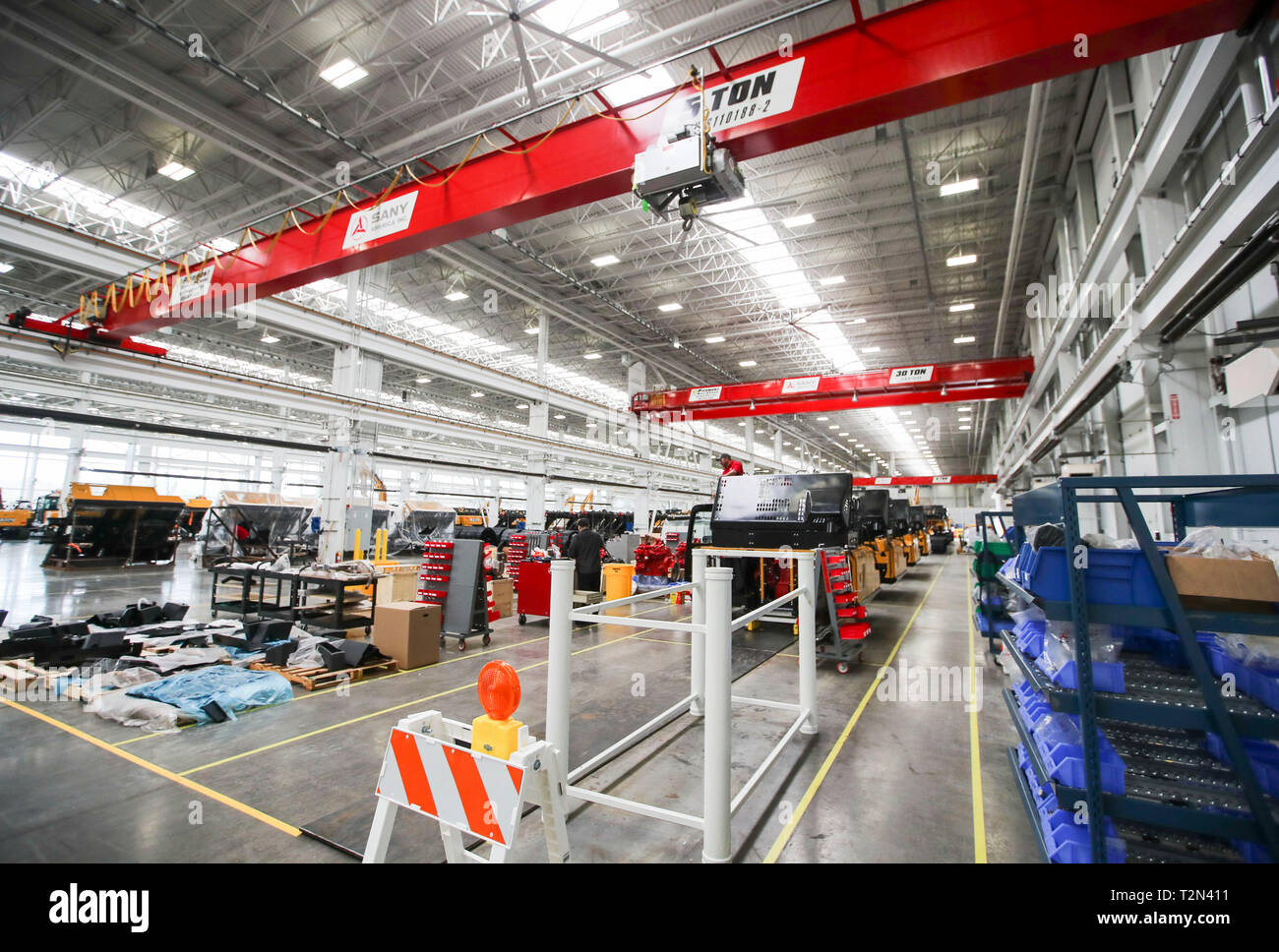 Georgia, USA  29th Mar, 2019  Employees work at the plant of