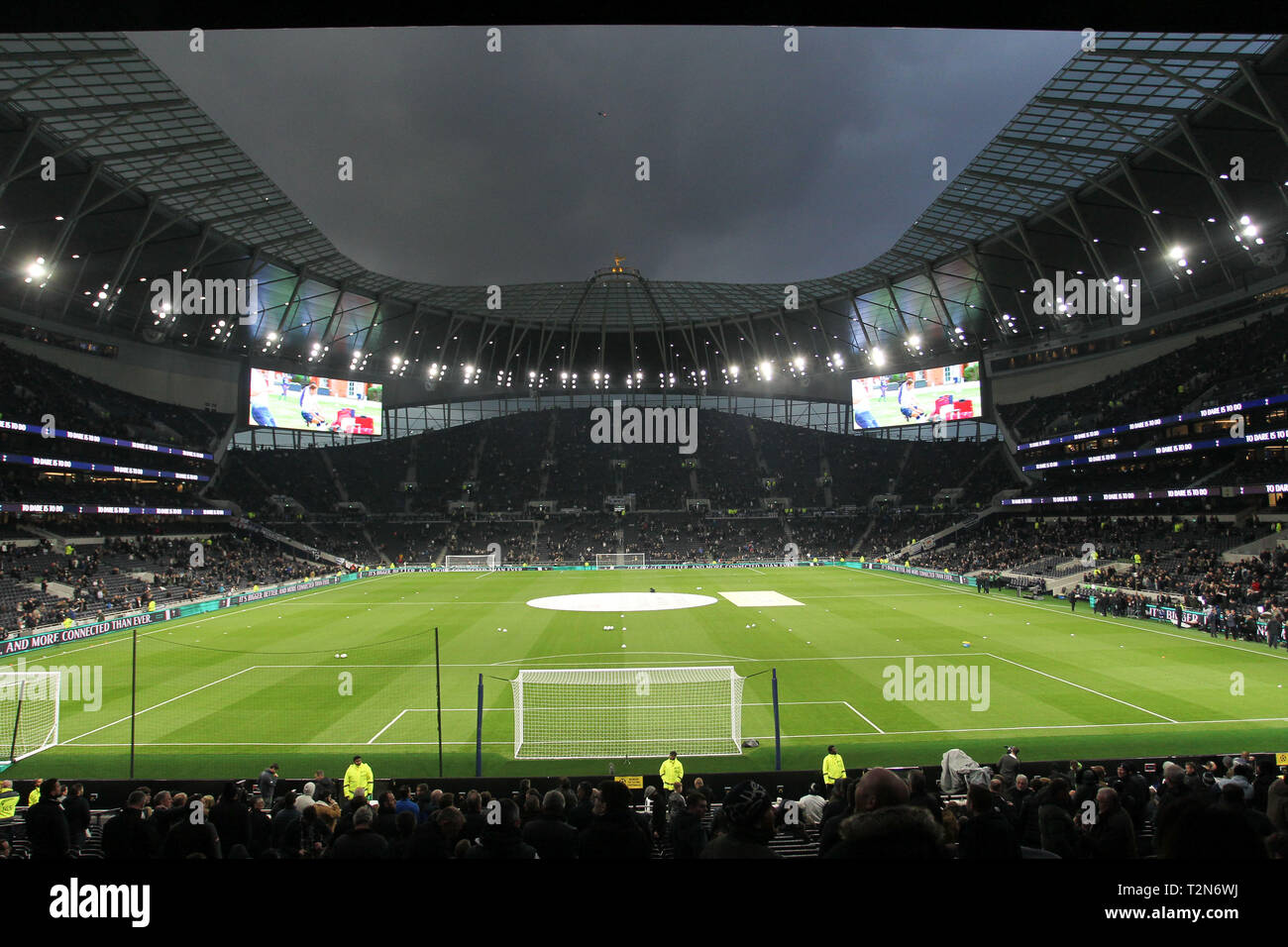 London, UK. 3rd Apr, 2019. Tottenham Hotspur Stadium, London, UK. 3rd Apr 2019. General View during the Premier League match between Tottenham Hotspur and Crystal Palace at Tottenham Hotspur Stadium on April 3rd 2019 in London, England. (Photo by Paul Raffety/phcimages.com) Credit: PHC Images/Alamy Live News Stock Photo