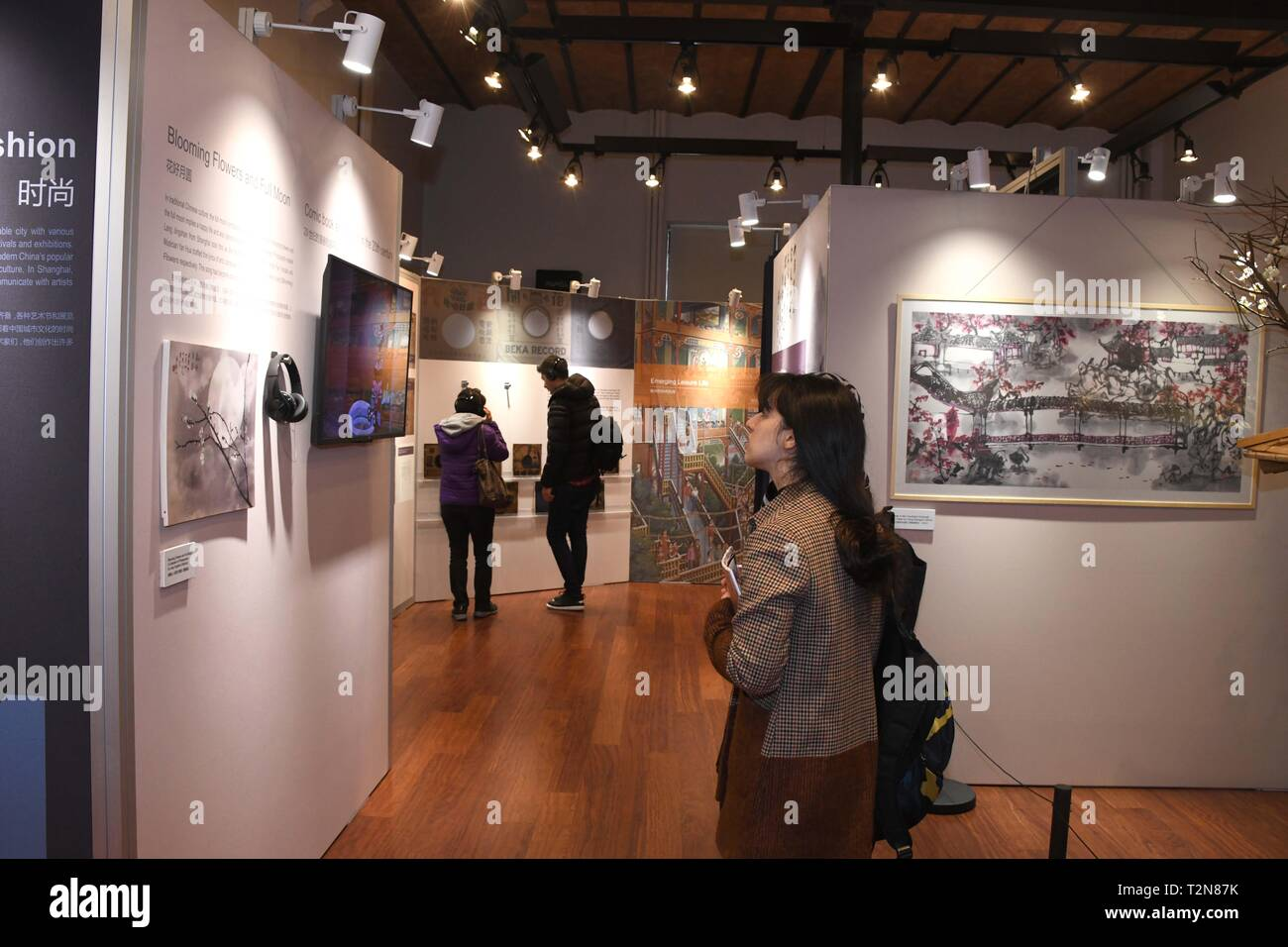 Istanbul, Turkey  3rd Apr, 2019  Guests visit an exhibition