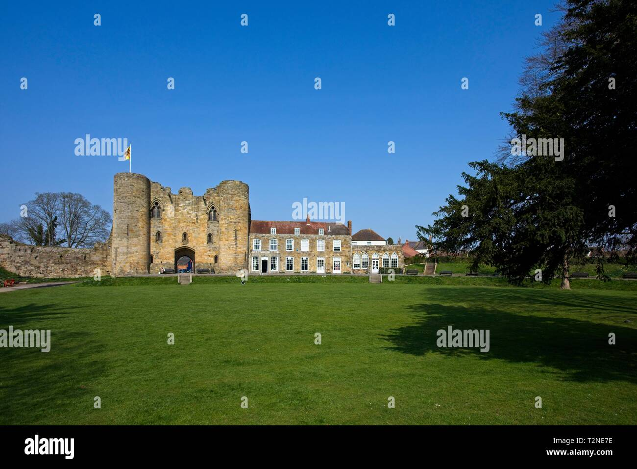 Tonbridge Castle Gatehouse and mansion, Kent,England - Stock Image