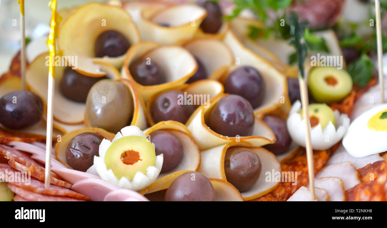 wll decorated party catering food,image Stock Photo