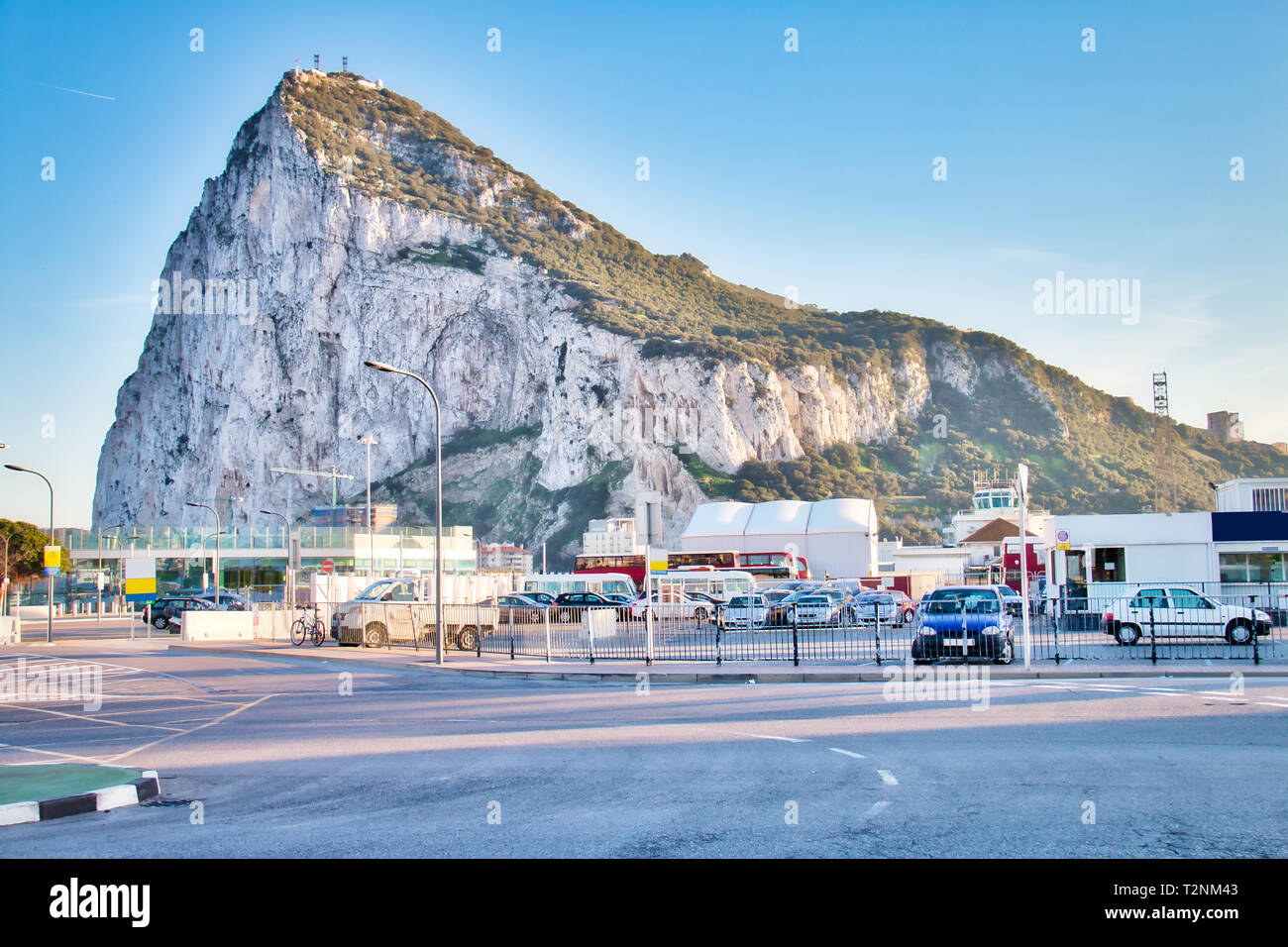 View of Gibraltar Rock - Stock Image