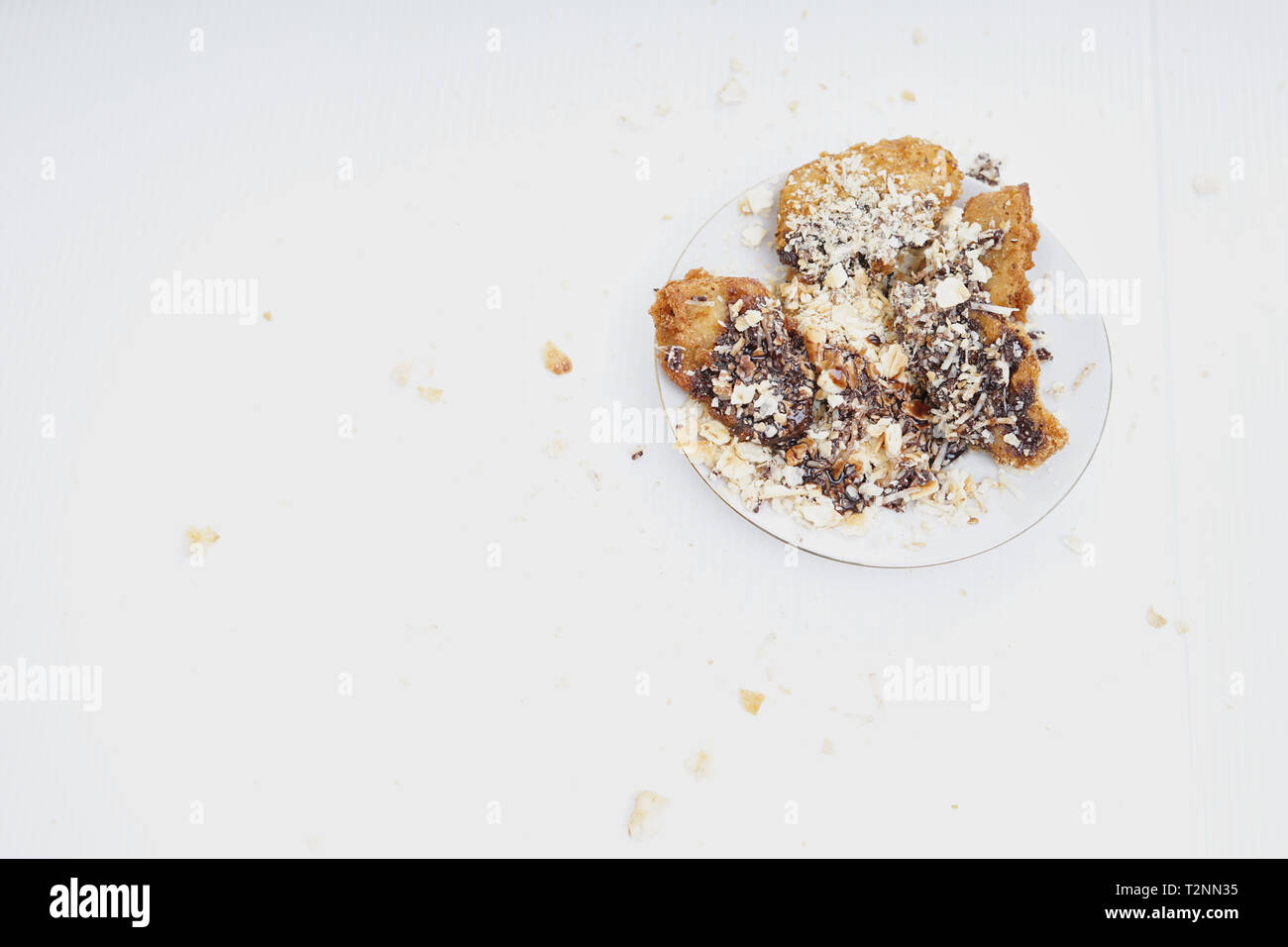 Deep Fried Banana Fritters With Chocolate And Cheese Stock Photo Alamy