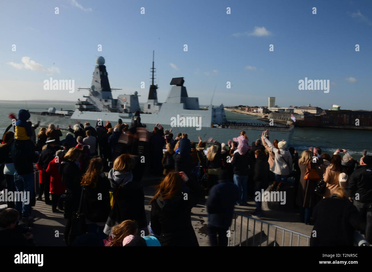 HMS Duncan 037 Type 45 or Daring-class air-defence destroyers - Stock Image