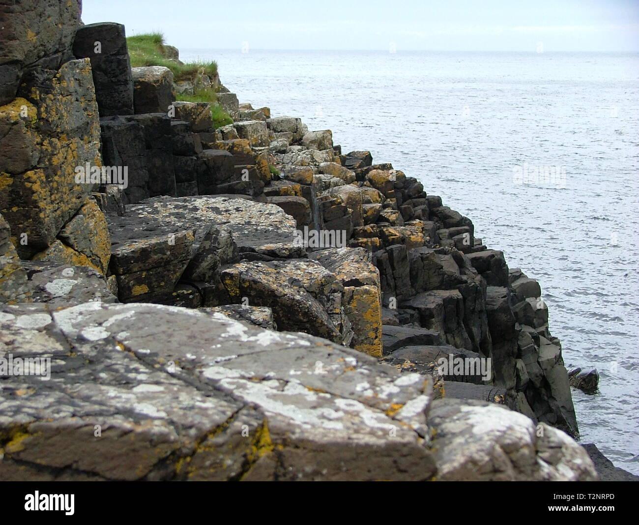 Giant's Causeway, Bushmills - Stock Image