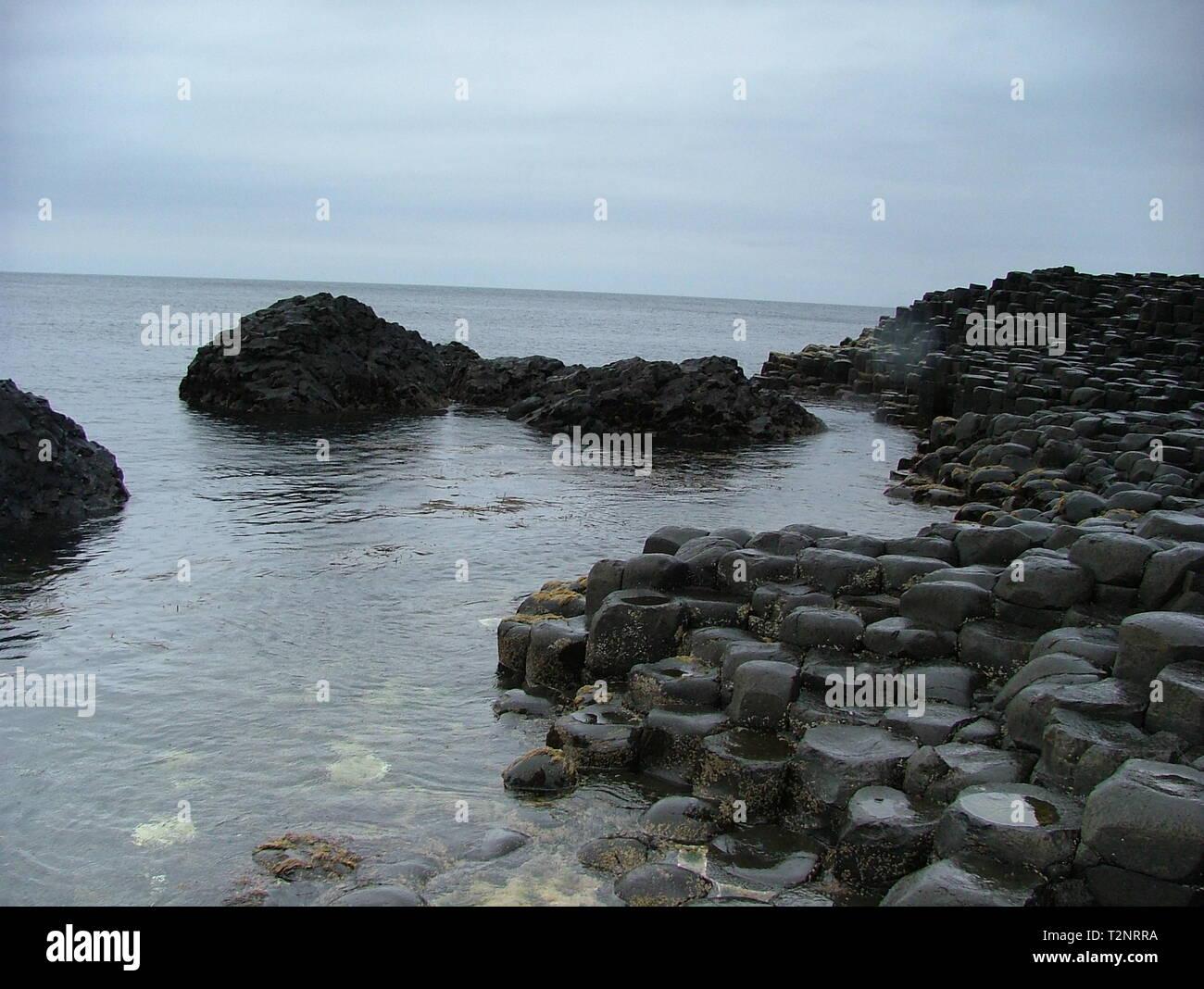 Giant's Causeway, Bushmills Stock Photo