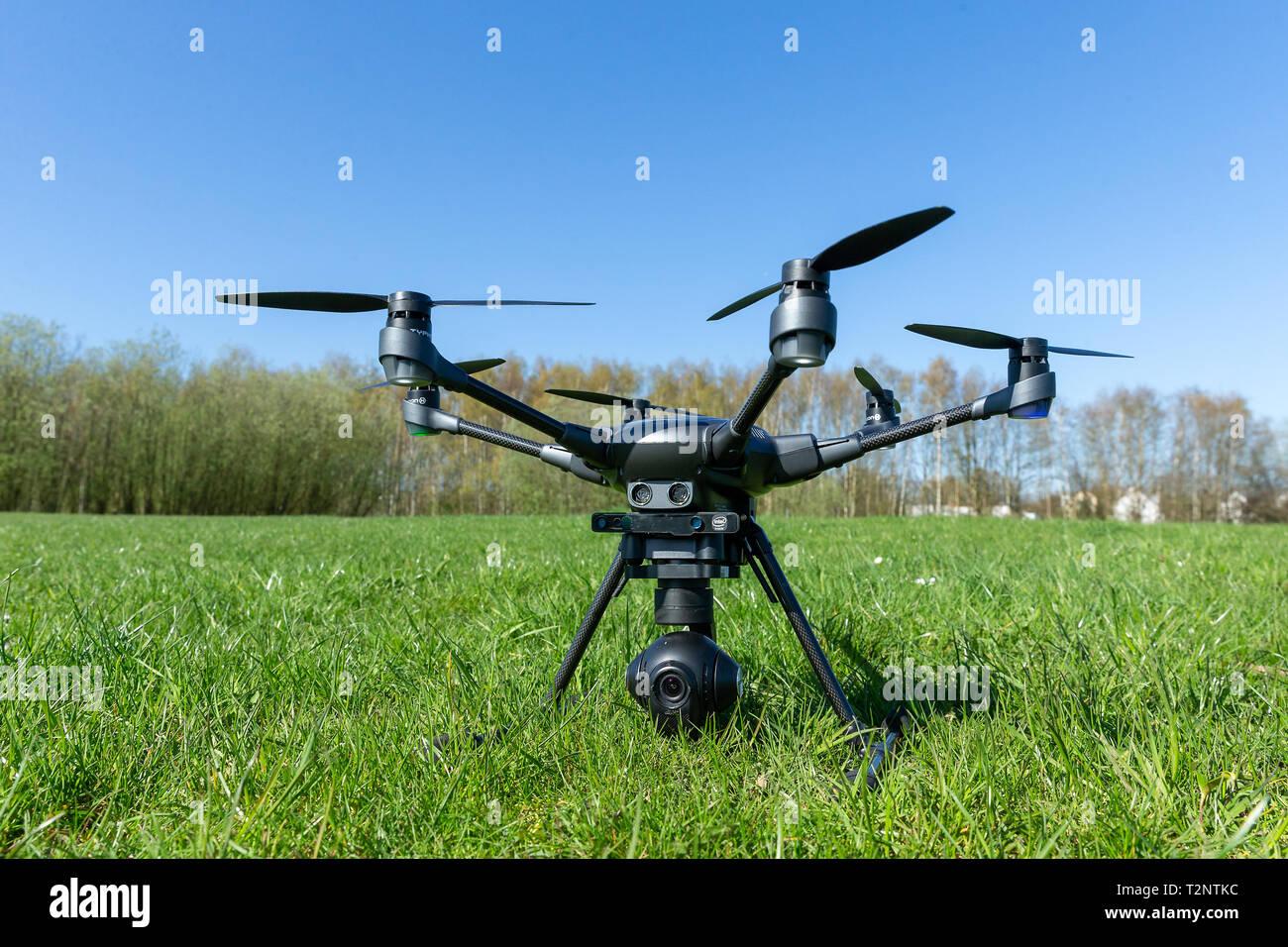 Drohne Yuneec Typhoon H, 01.04.2019  Foto: Mario Hommes - Stock Image