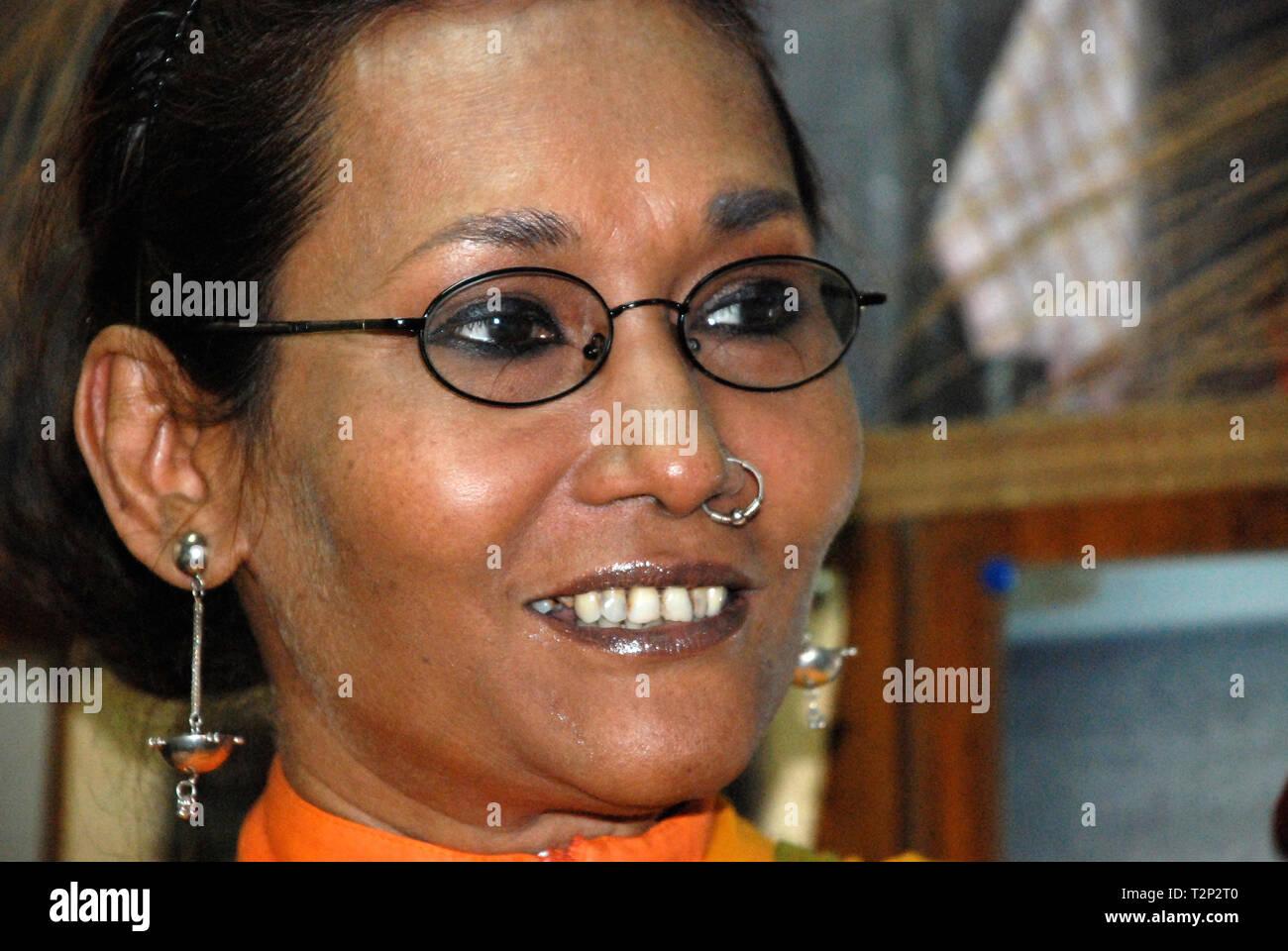 Bibi Russell Bangladeshi Fashion Designer Former International Model Stock Photo Alamy