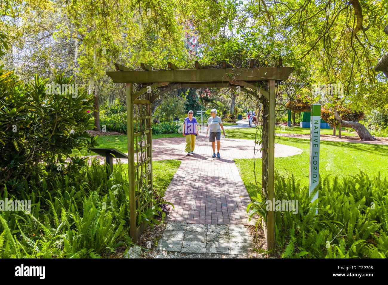 Marie Selby Botanical Gardens in Sarasota Florida - Stock Image