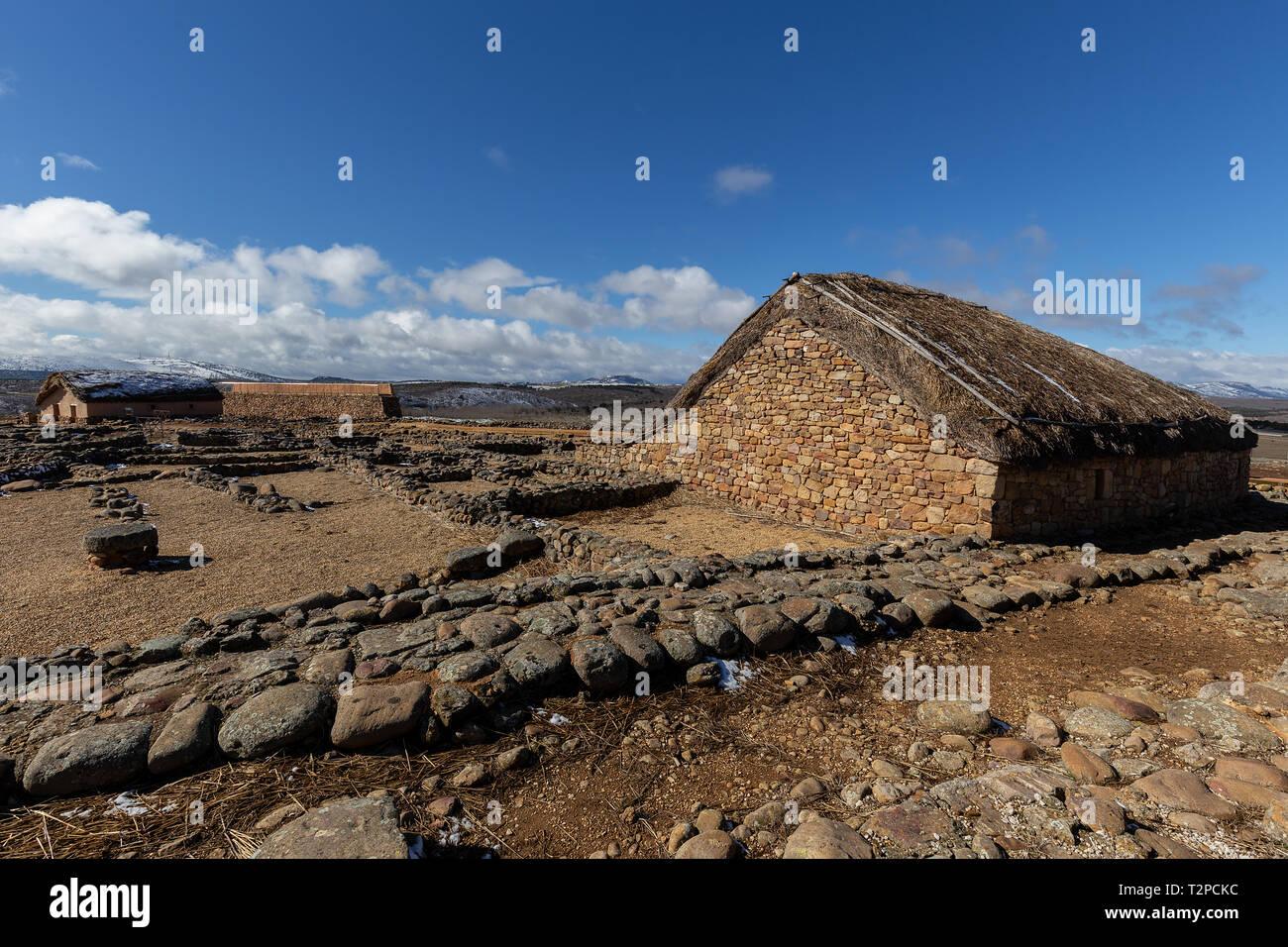 Numancia, romanic antique town in Soria, Spain - Stock Image