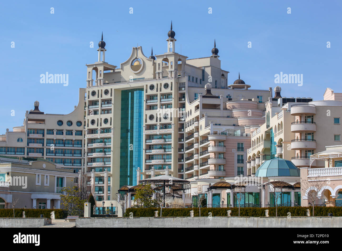 Pomorie Bulgaria March 07 2018 Sunset Resort Hotel