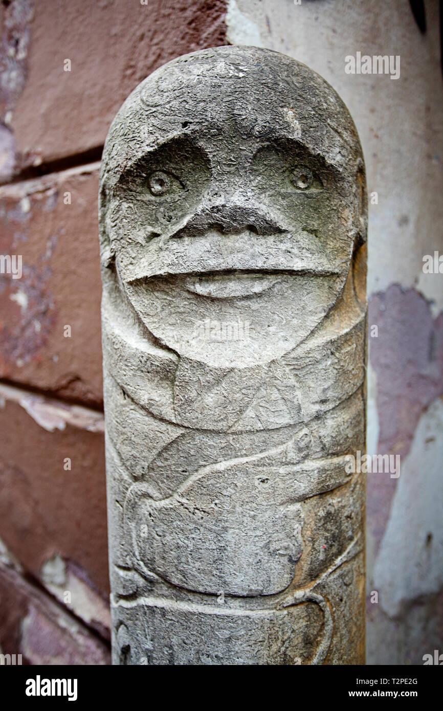 carved granite statue Stock Photo
