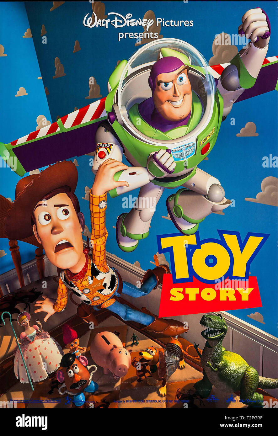 Toy Story (Buena Vista, 1995)  Poster  File Reference # 33751_972THA - Stock Image