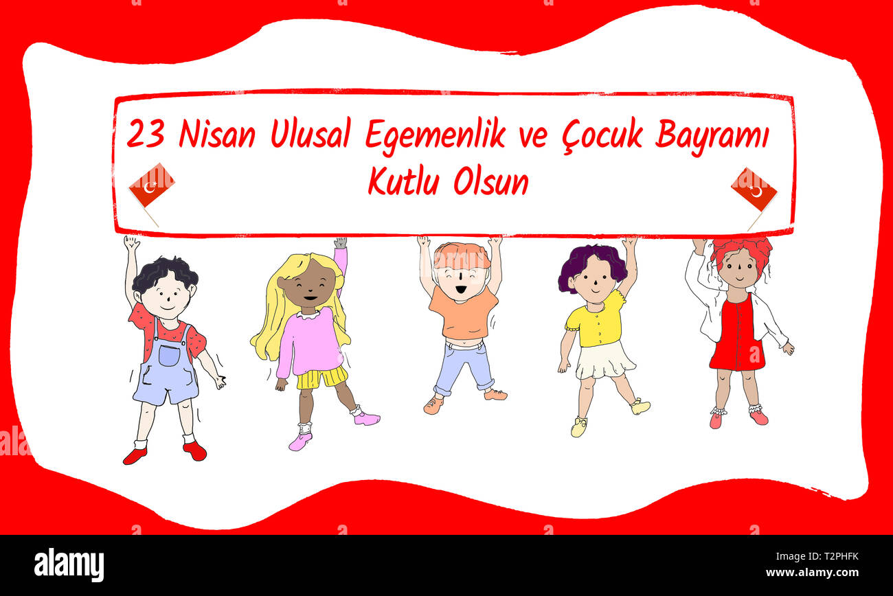 Turkish 23 April  National Sovereignty and Children's Day Stock Photo