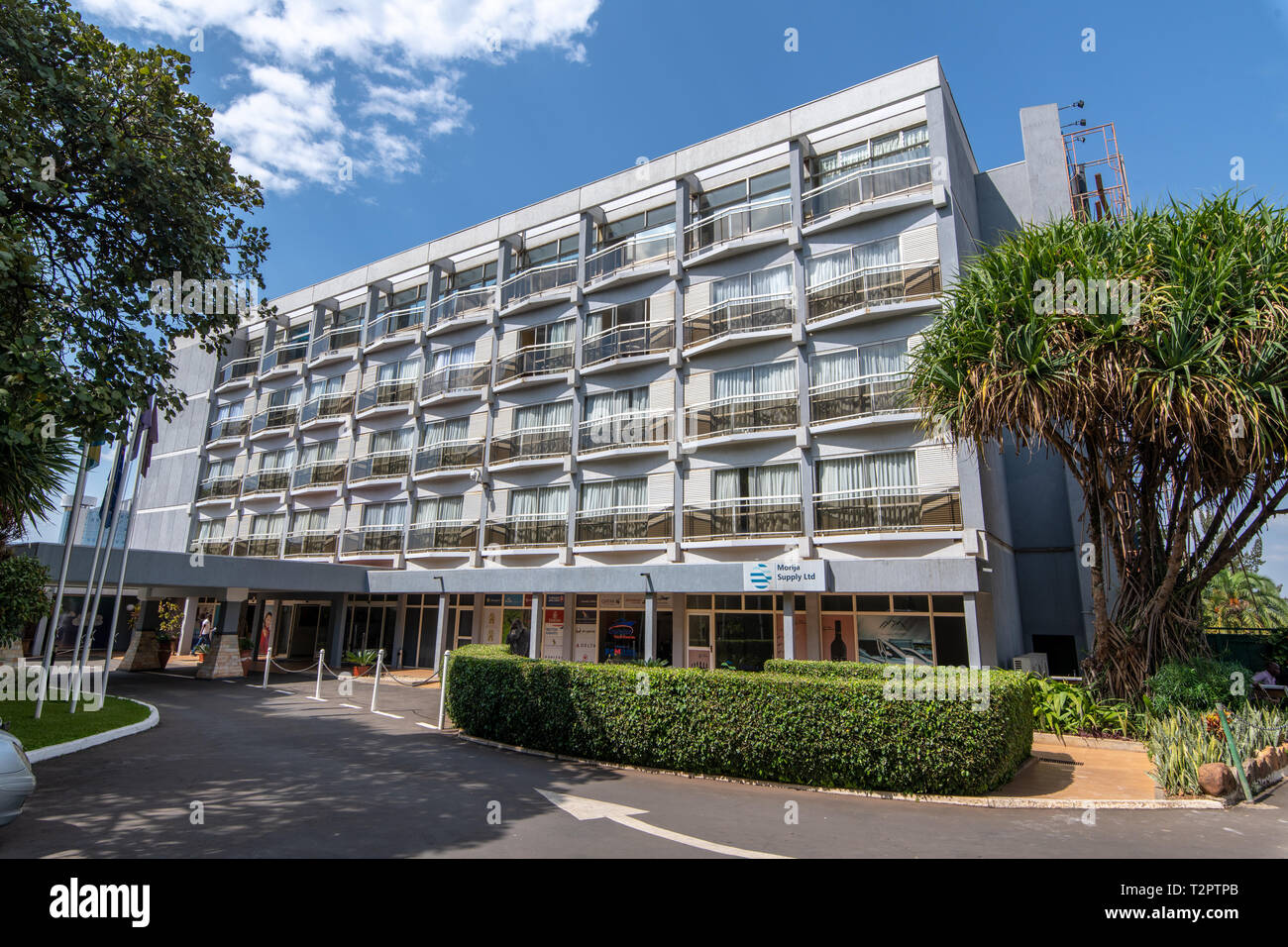 Outside exterior of The Hotel des Mille Collines (Hotel Rwanda), Kigali, Rwanda. Stock Photo