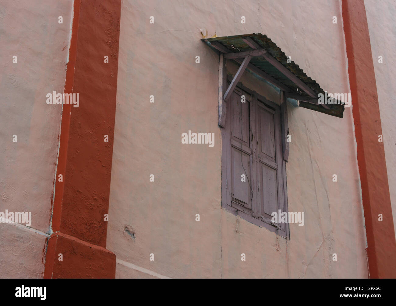 Traditional building in the heritage district of Johor Bahru, Malaysia Stock Photo
