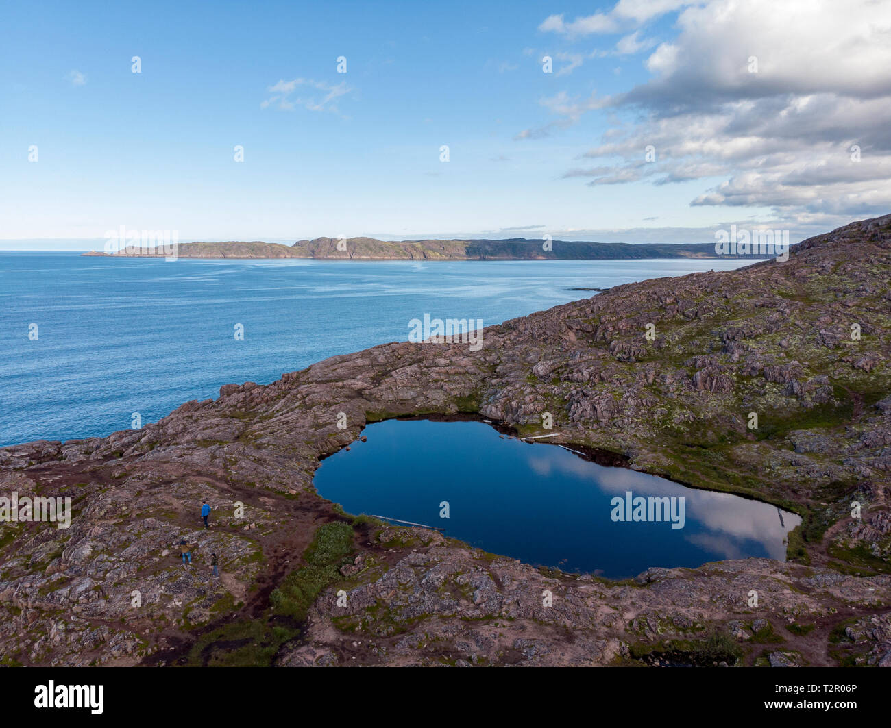 Ocean view from drone - Stock Image