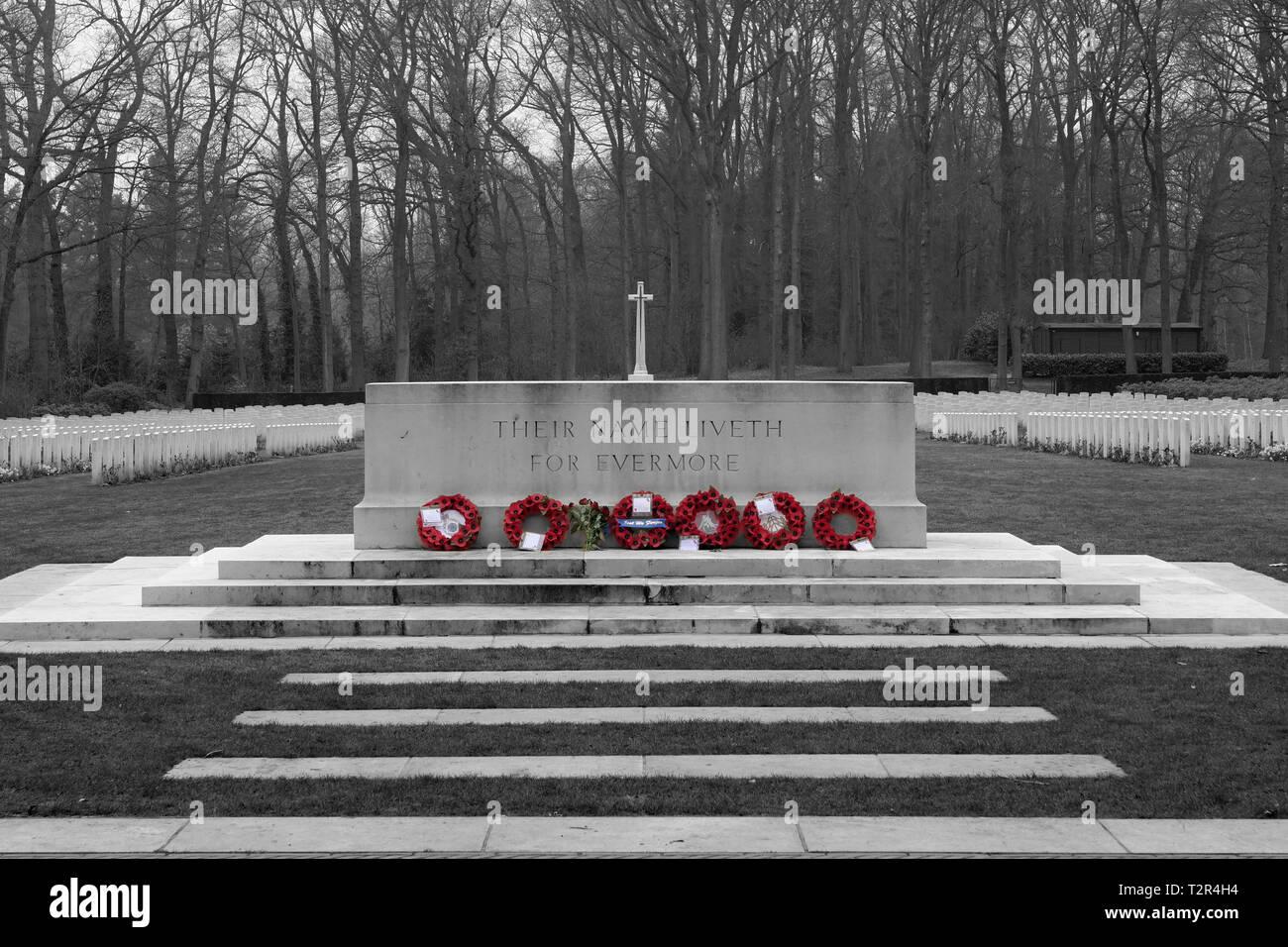 Commonwealth War Cemetery Oosterbeek Arnhem Holland Netherlands 3 - Stock Image
