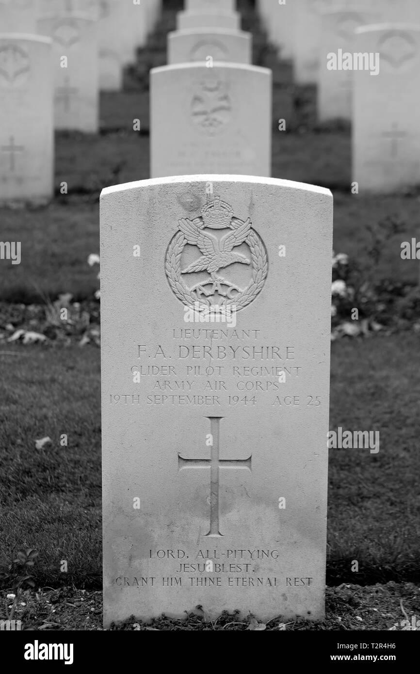 Commonwealth War Cemetery Oosterbeek Arnhem Holland Netherlands 1 - Stock Image