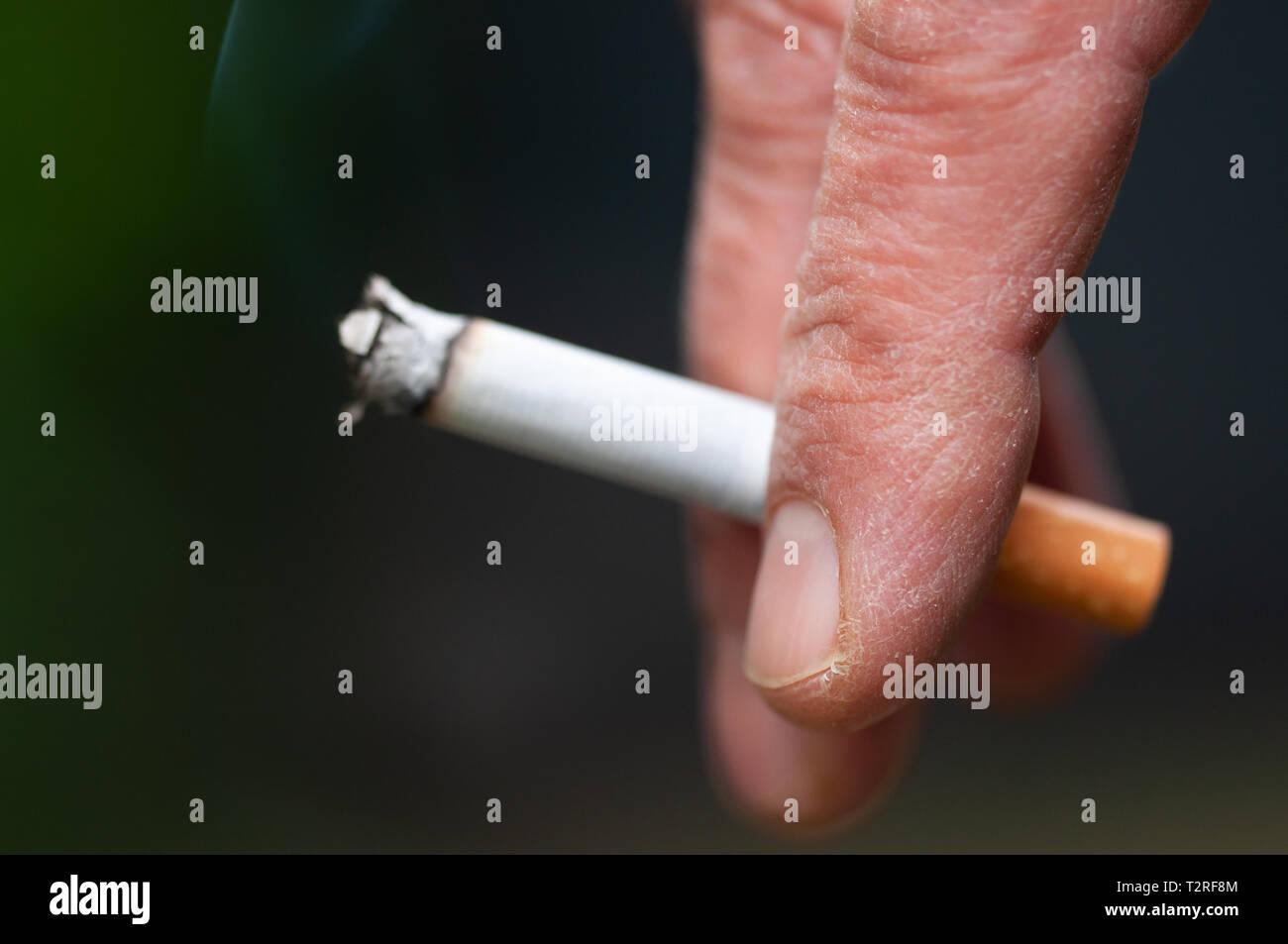 Smoking is a bad habit - Stock Image