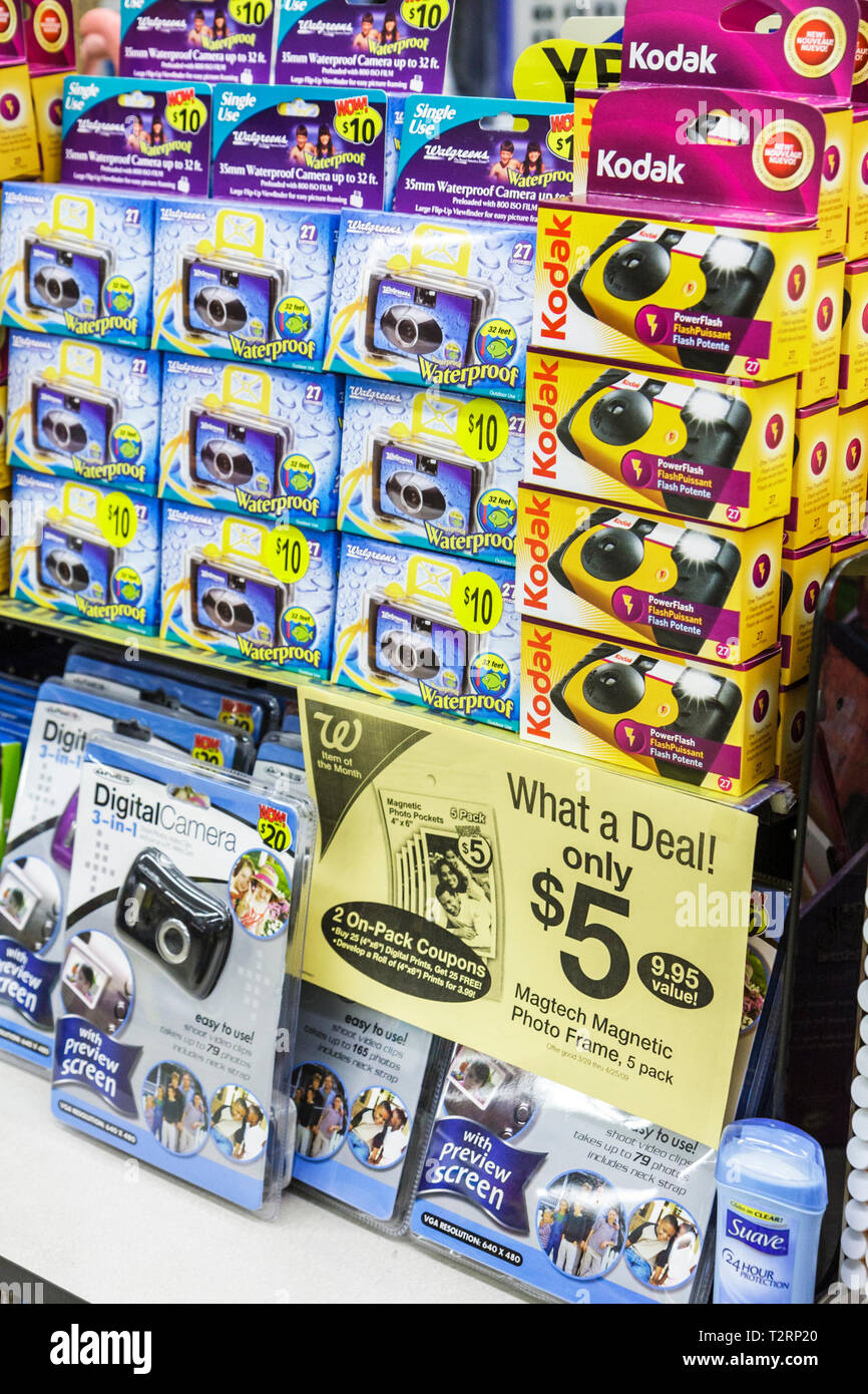 436c8fb1c Miami Beach Florida Walgreens Pharmacy drugstore retail merchandise  business commerce disposable cameras Kodak deal discount ba